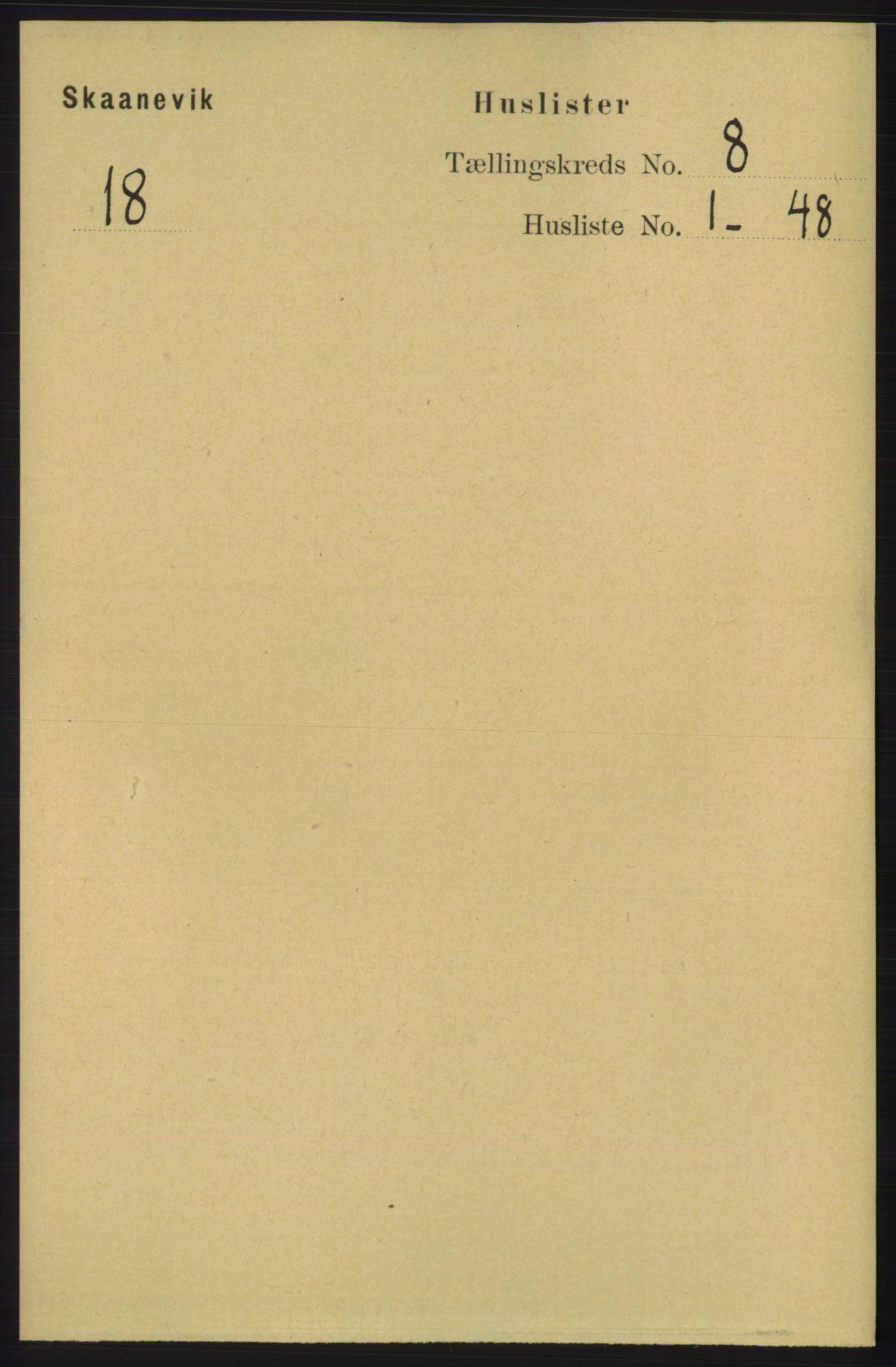 RA, Folketelling 1891 for 1212 Skånevik herred, 1891, s. 2130