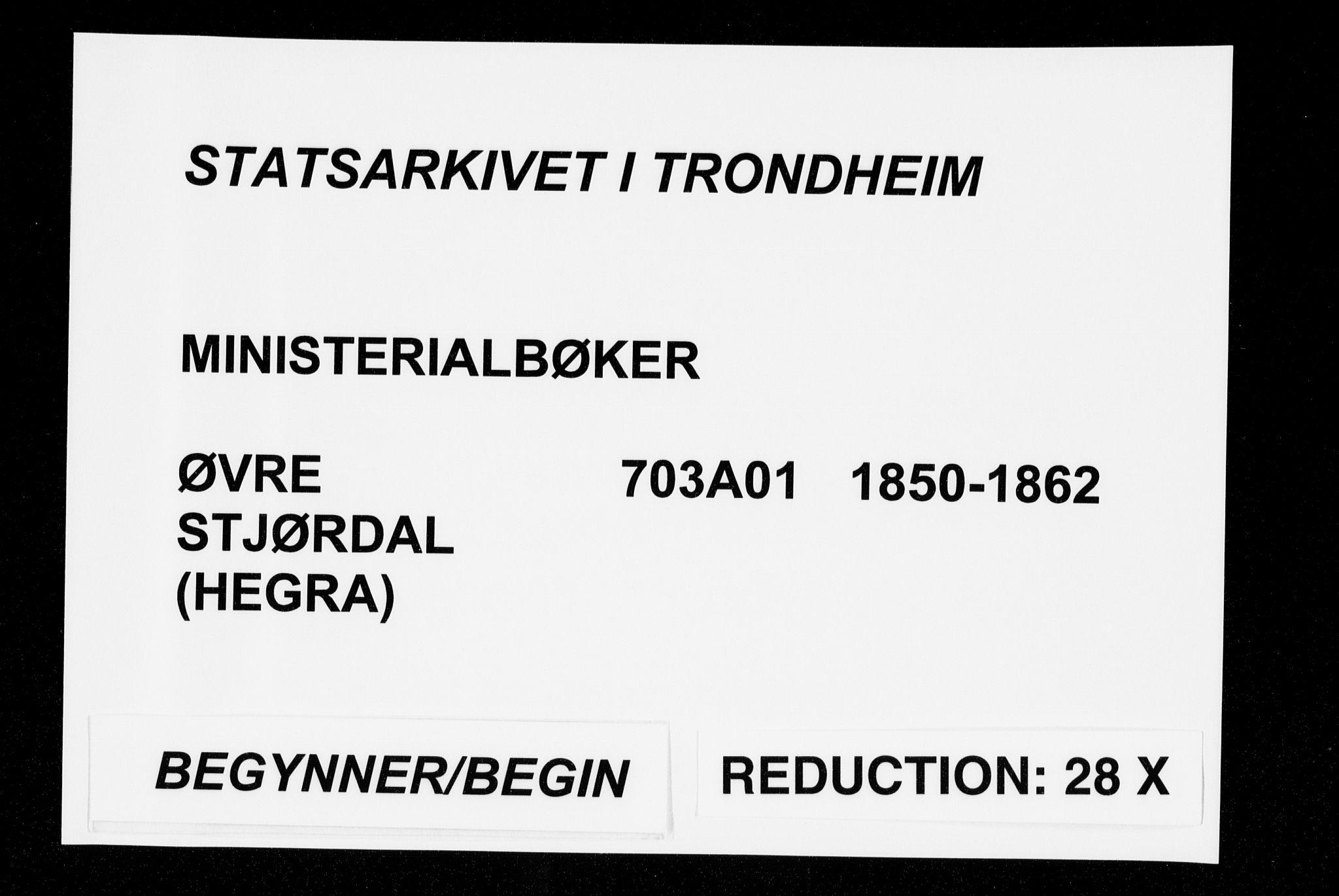 SAT, Ministerialprotokoller, klokkerbøker og fødselsregistre - Nord-Trøndelag, 703/L0028: Ministerialbok nr. 703A01, 1850-1862