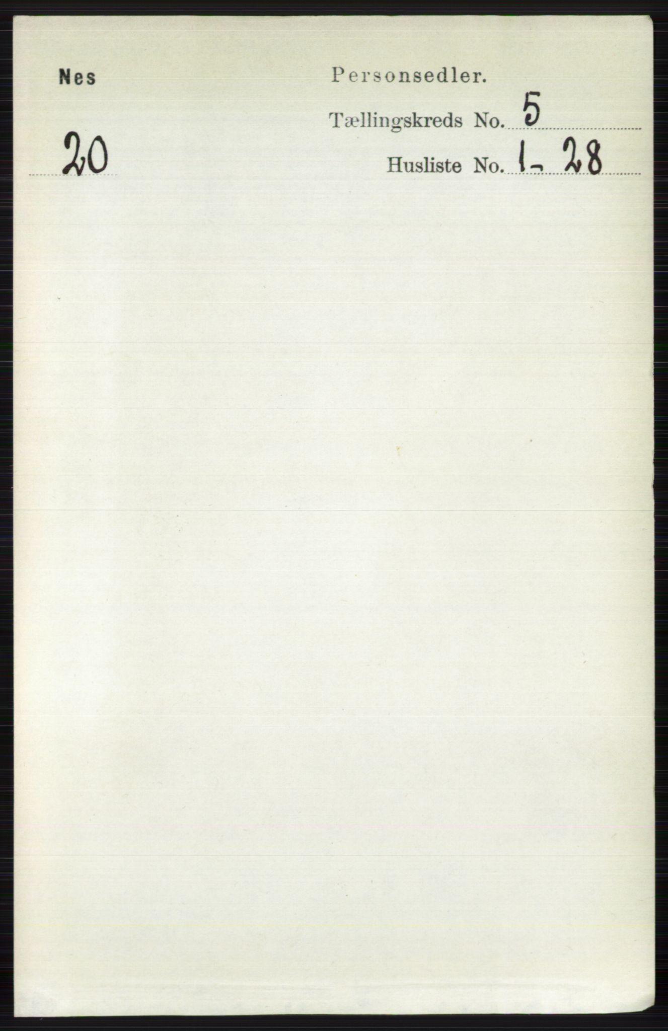 RA, Folketelling 1891 for 0616 Nes herred, 1891, s. 2635