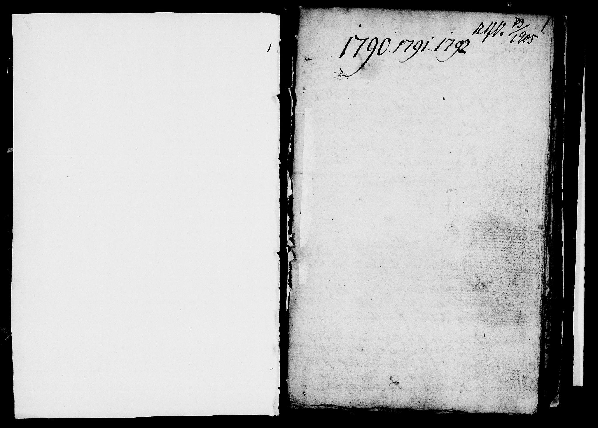 SAH, Ringsaker prestekontor, I/Ia/L0005/0005: Kladd til kirkebok nr. 1E, 1790-1792, s. 0-1