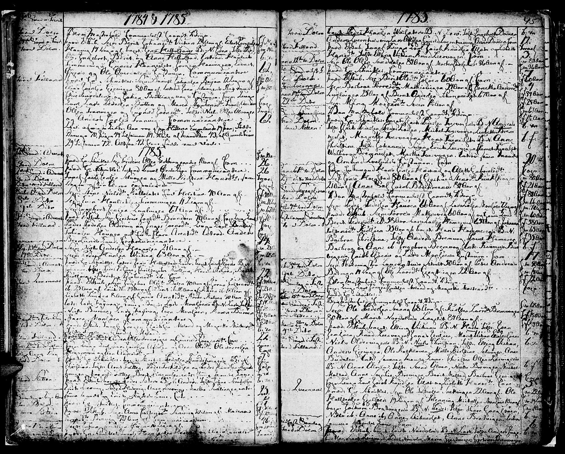 SAT, Ministerialprotokoller, klokkerbøker og fødselsregistre - Sør-Trøndelag, 634/L0526: Ministerialbok nr. 634A02, 1775-1818, s. 45