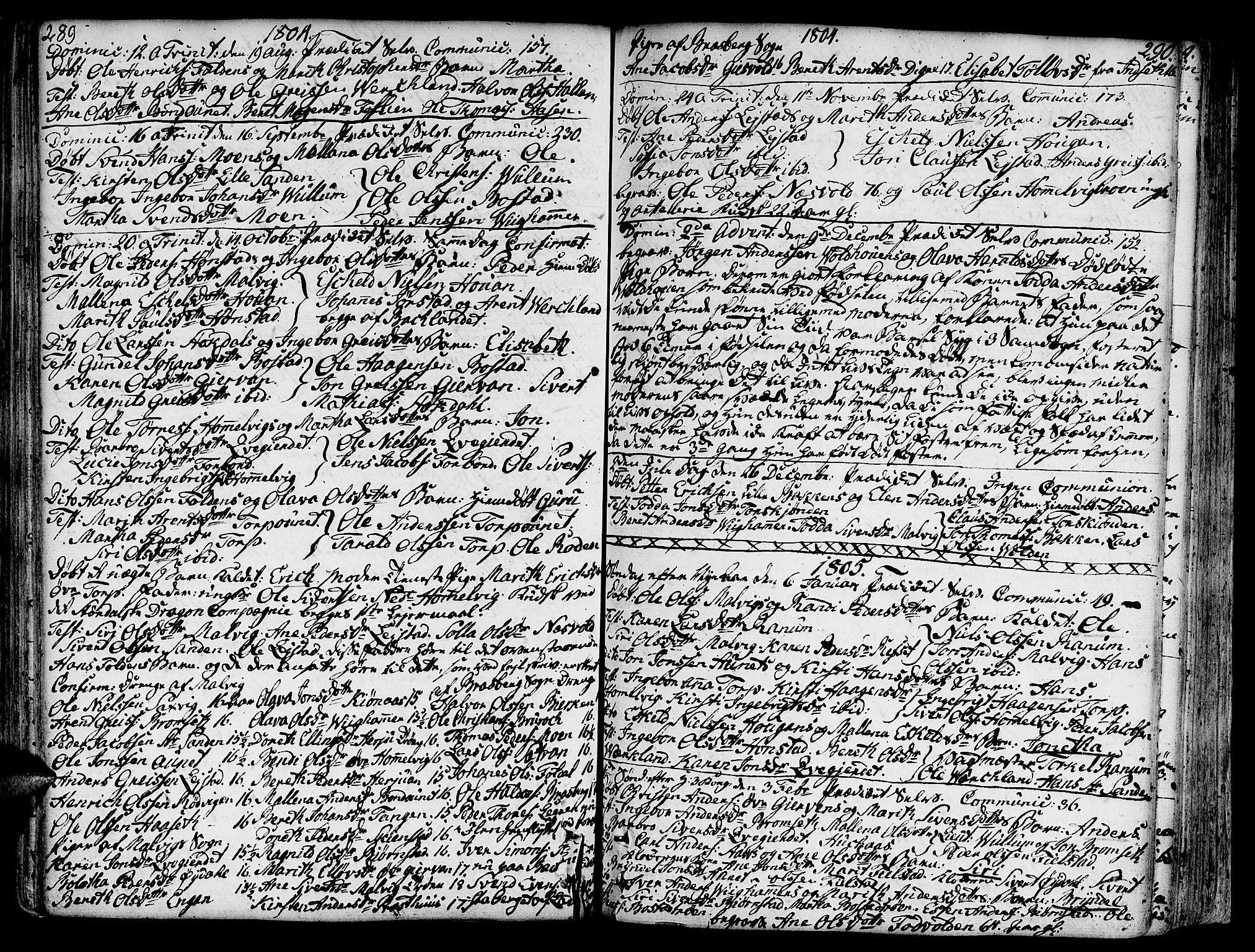SAT, Ministerialprotokoller, klokkerbøker og fødselsregistre - Sør-Trøndelag, 606/L0281: Ministerialbok nr. 606A02 /2, 1781-1817, s. 289-290