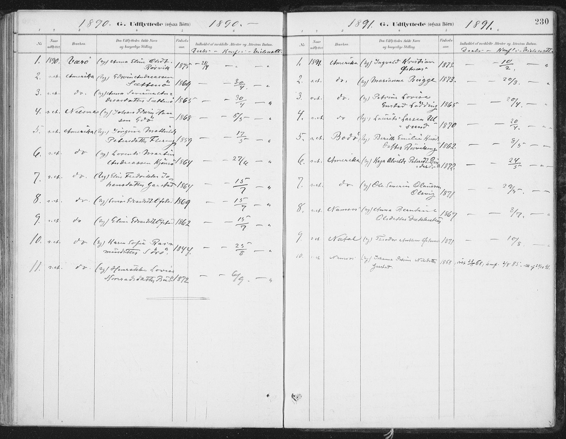 SAT, Ministerialprotokoller, klokkerbøker og fødselsregistre - Nord-Trøndelag, 786/L0687: Ministerialbok nr. 786A03, 1888-1898, s. 230