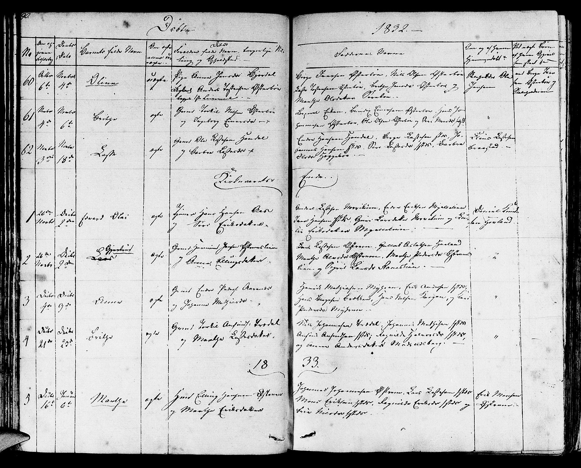 SAB, Lavik sokneprestembete, Ministerialbok nr. A 2I, 1821-1842, s. 90