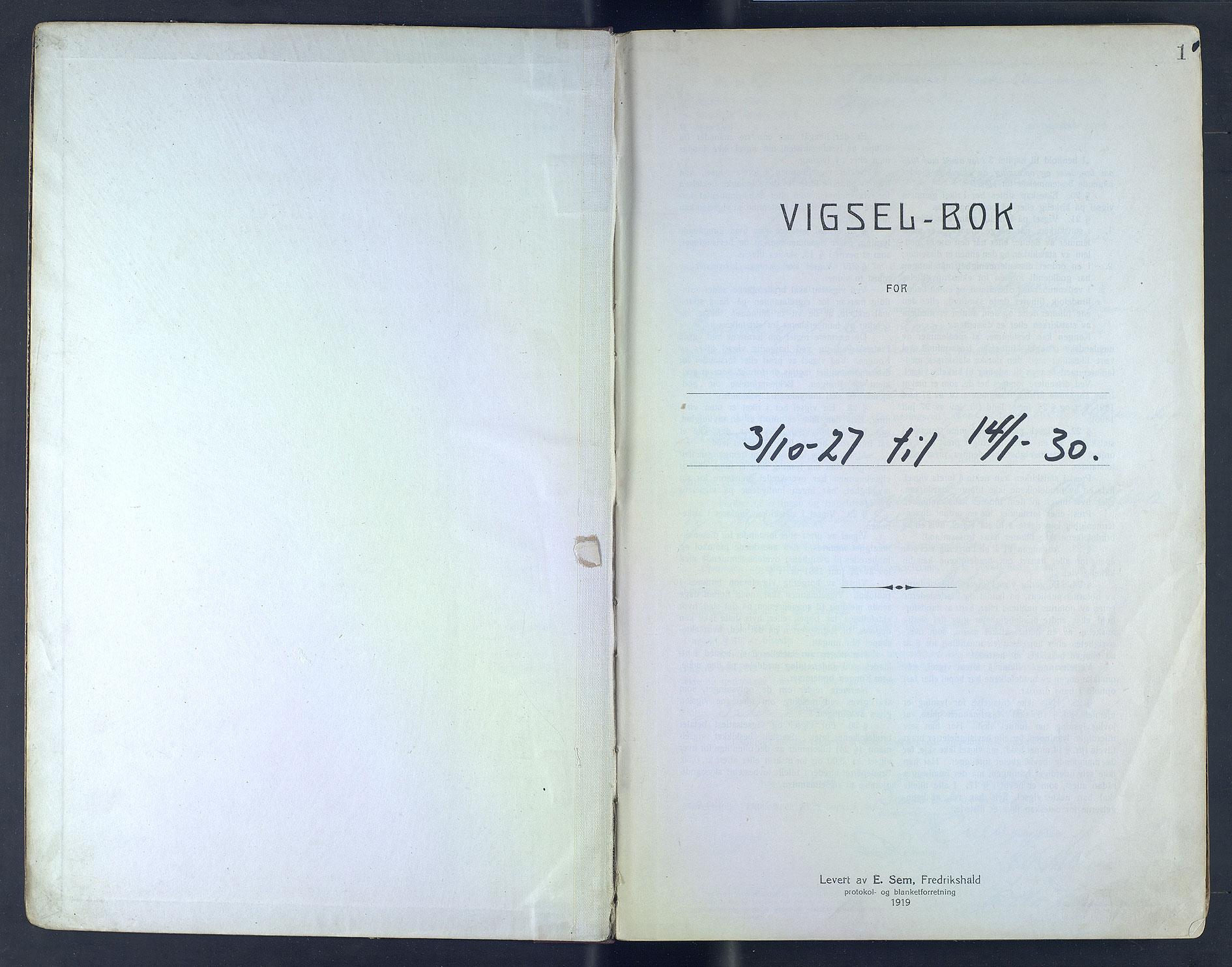 SAB, Bergen byfogd og byskriver*, 1927-1930, s. 1a