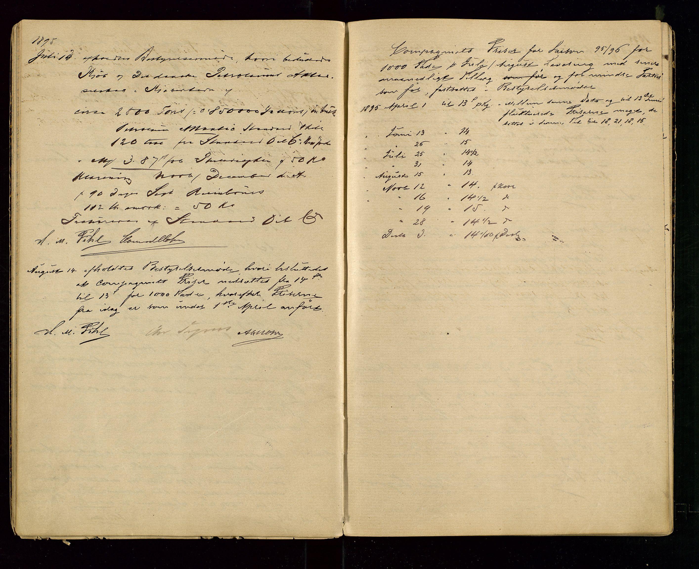 SAST, PA 1533 - A/S Vestlandske Petroleumscompani, A/Aa/L0001: Generalforsamlinger og styreprotokoller, 1890-1907, s. 22