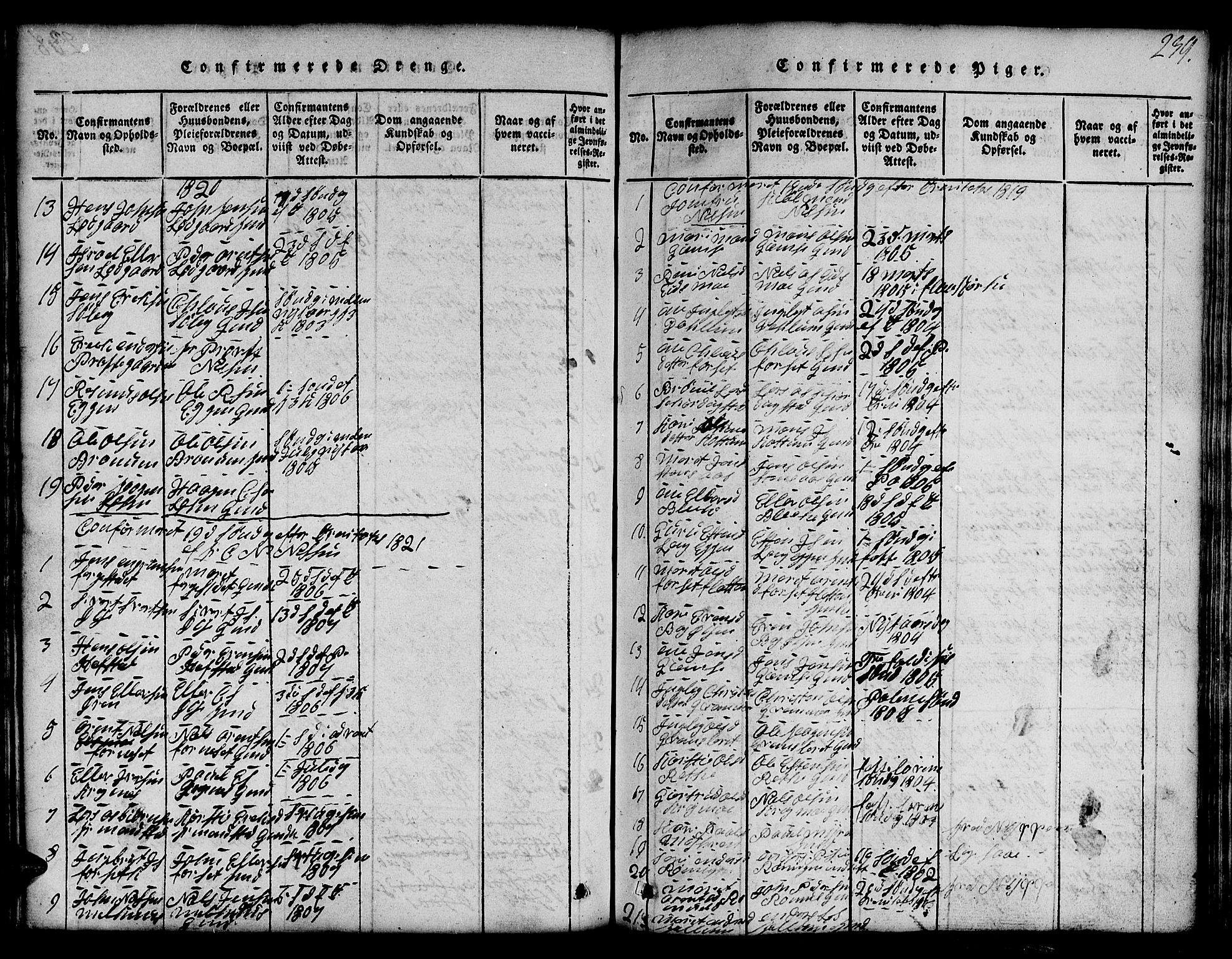 SAT, Ministerialprotokoller, klokkerbøker og fødselsregistre - Sør-Trøndelag, 691/L1092: Klokkerbok nr. 691C03, 1816-1852, s. 239