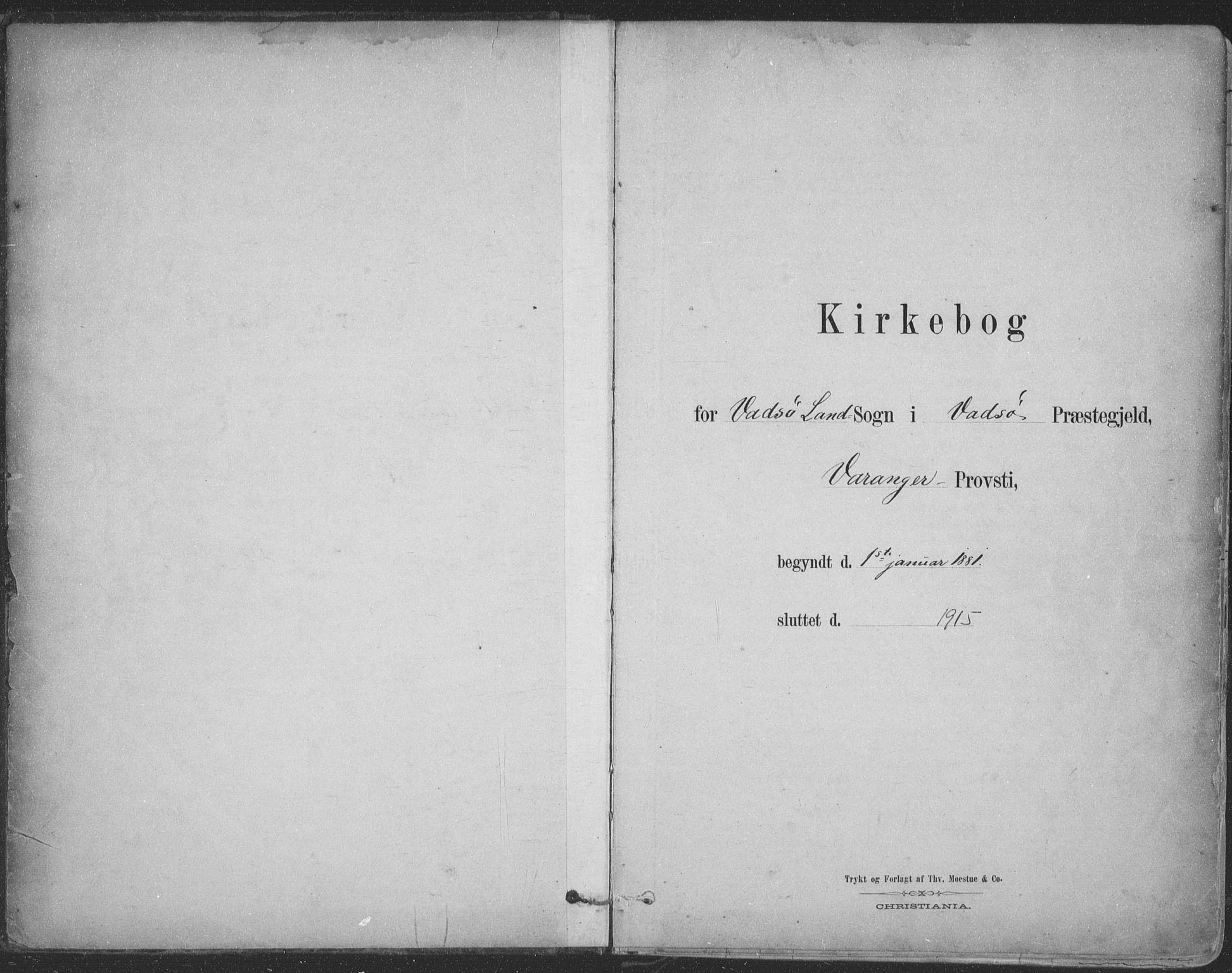 SATØ, Vadsø sokneprestkontor, H/Ha/L0009kirke: Ministerialbok nr. 9, 1881-1917