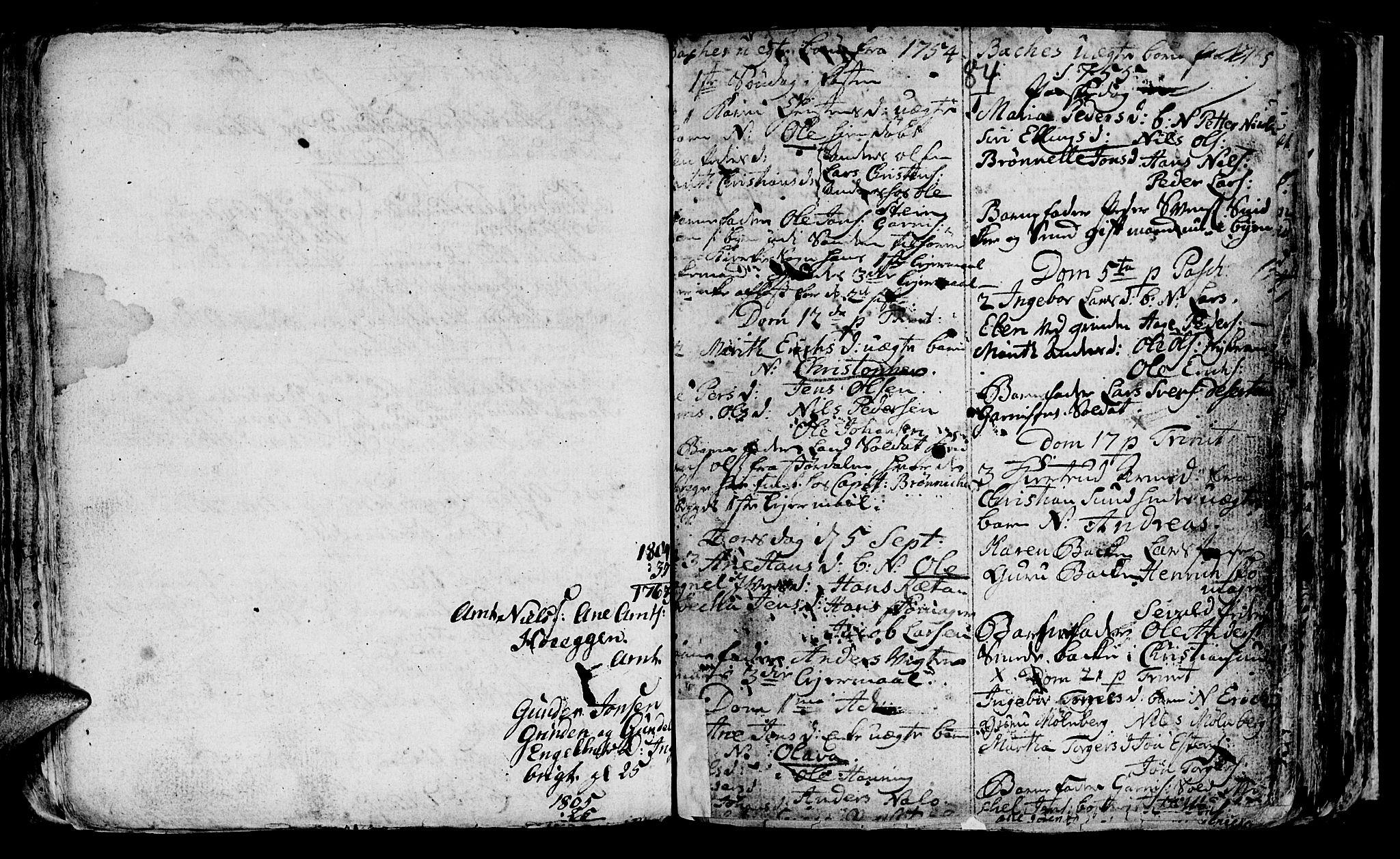 SAT, Ministerialprotokoller, klokkerbøker og fødselsregistre - Sør-Trøndelag, 604/L0218: Klokkerbok nr. 604C01, 1754-1819, s. 84