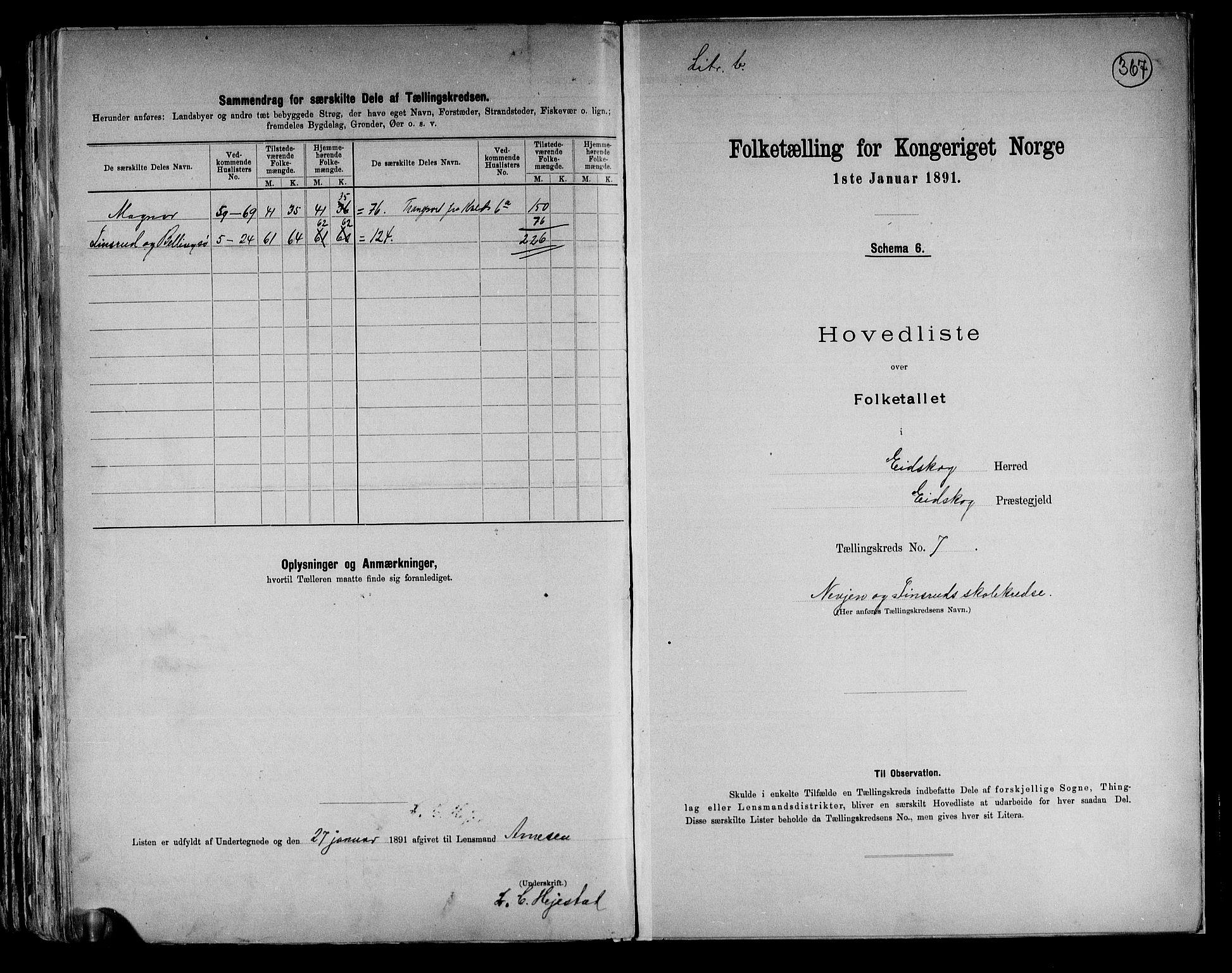 RA, Folketelling 1891 for 0420 Eidskog herred, 1891, s. 23