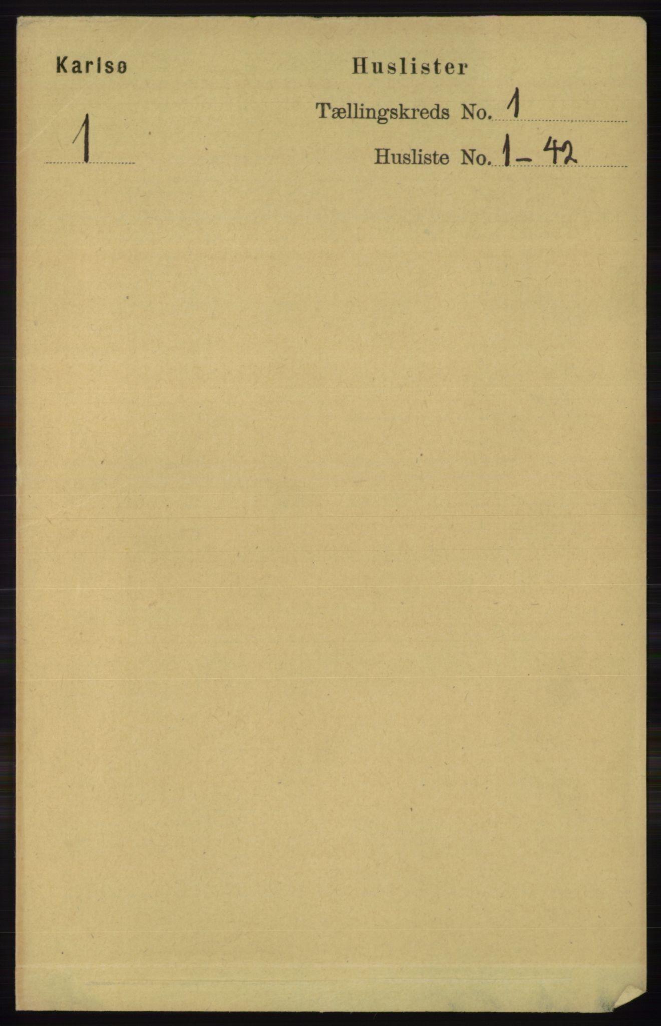 RA, Folketelling 1891 for 1936 Karlsøy herred, 1891, s. 15