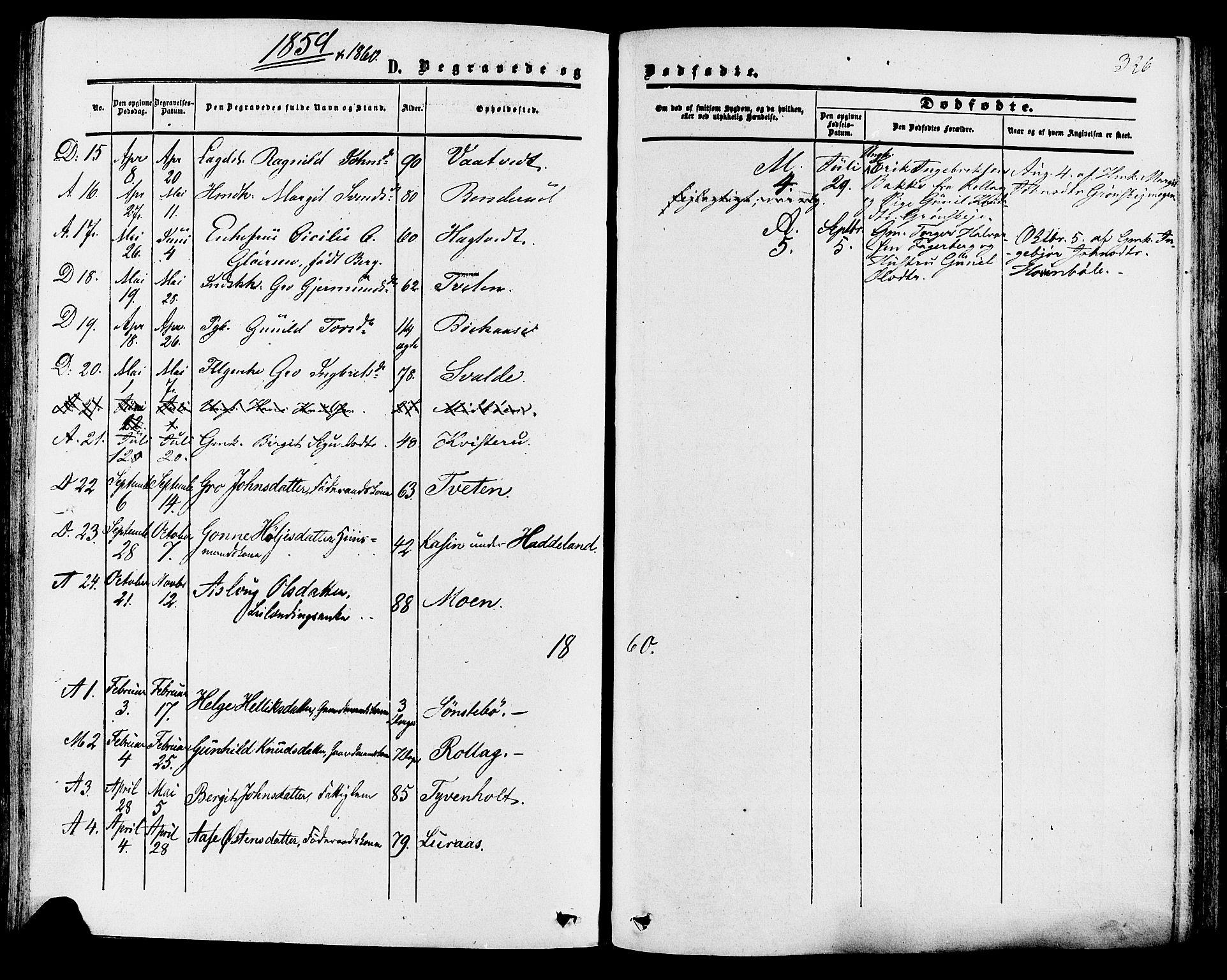 SAKO, Tinn kirkebøker, F/Fa/L0006: Ministerialbok nr. I 6, 1857-1878, s. 326