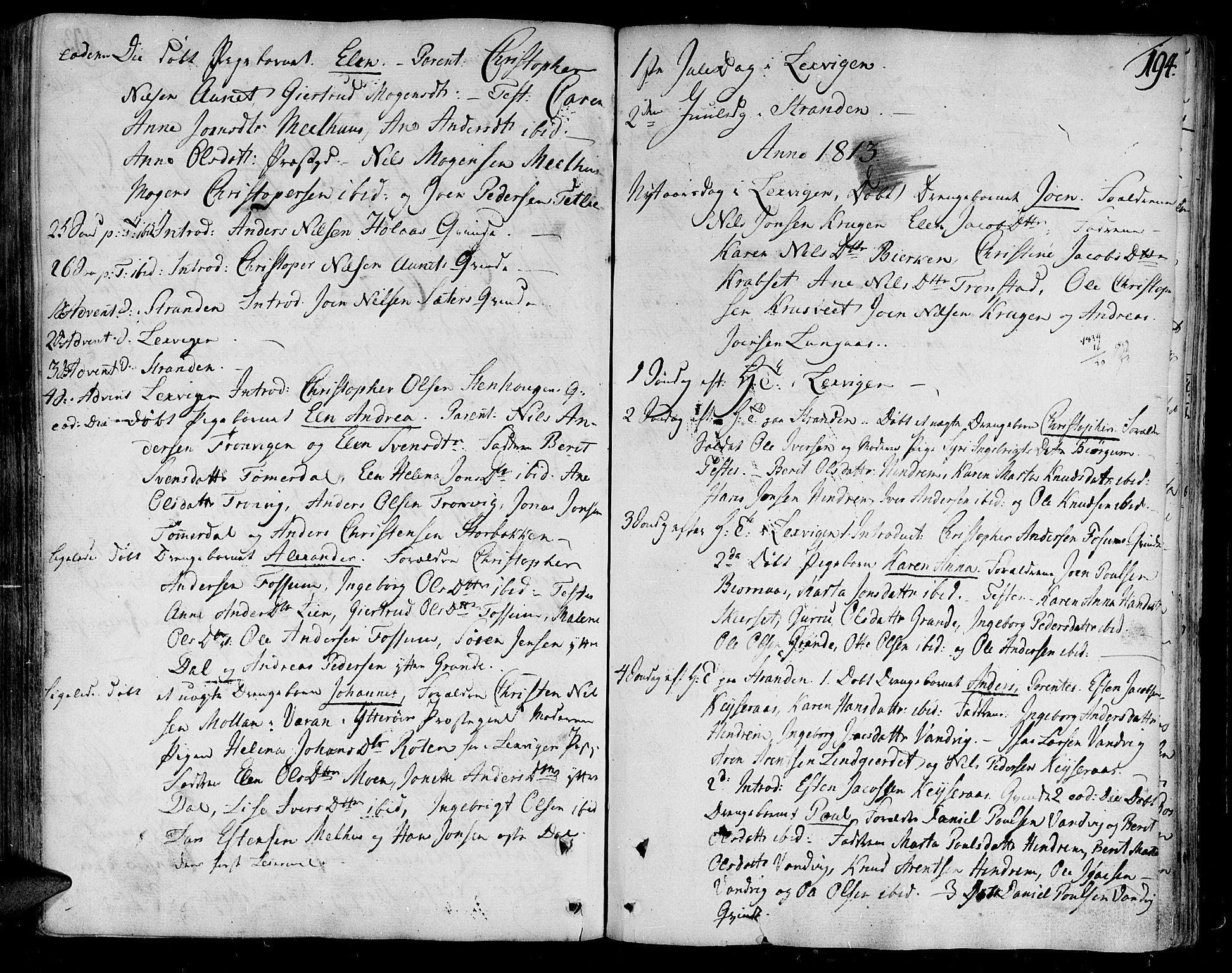 SAT, Ministerialprotokoller, klokkerbøker og fødselsregistre - Nord-Trøndelag, 701/L0004: Ministerialbok nr. 701A04, 1783-1816, s. 194