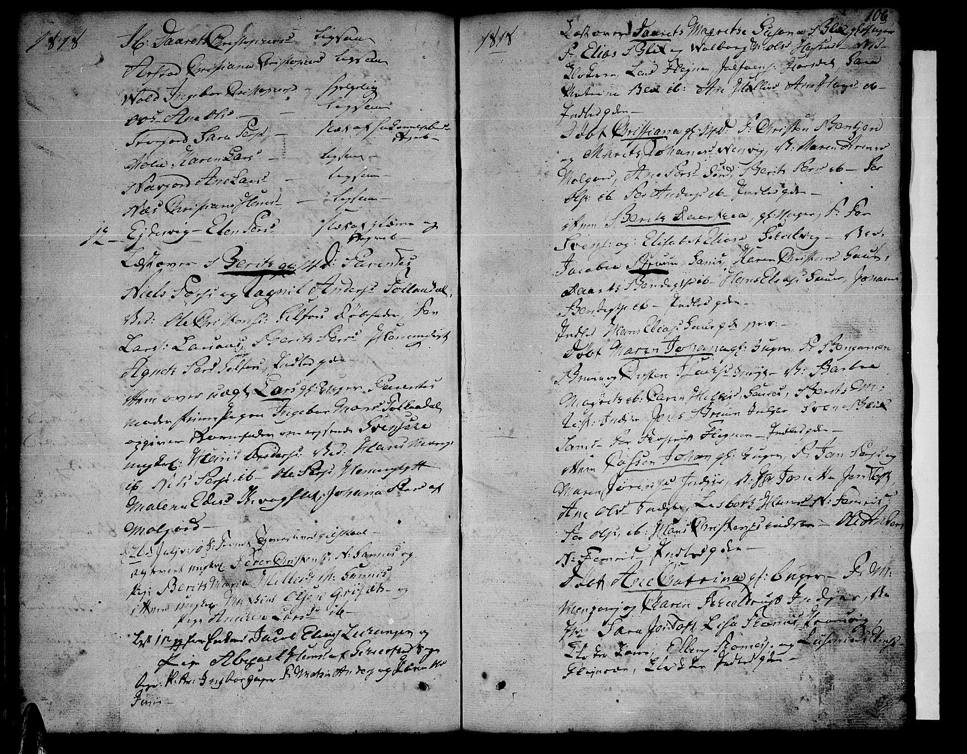 SAT, Ministerialprotokoller, klokkerbøker og fødselsregistre - Nordland, 805/L0095: Ministerialbok nr. 805A02, 1805-1826, s. 106