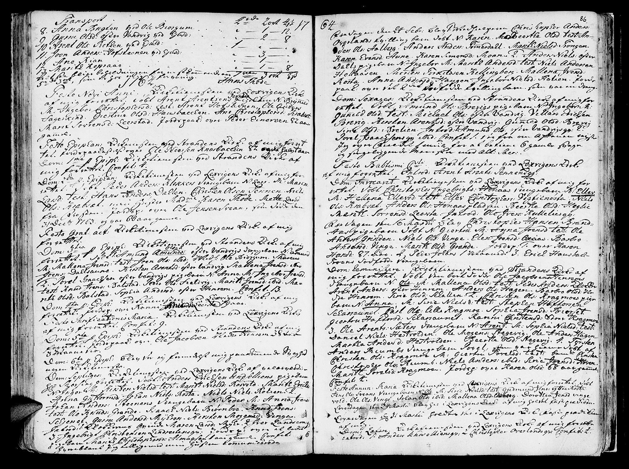 SAT, Ministerialprotokoller, klokkerbøker og fødselsregistre - Nord-Trøndelag, 701/L0003: Ministerialbok nr. 701A03, 1751-1783, s. 86