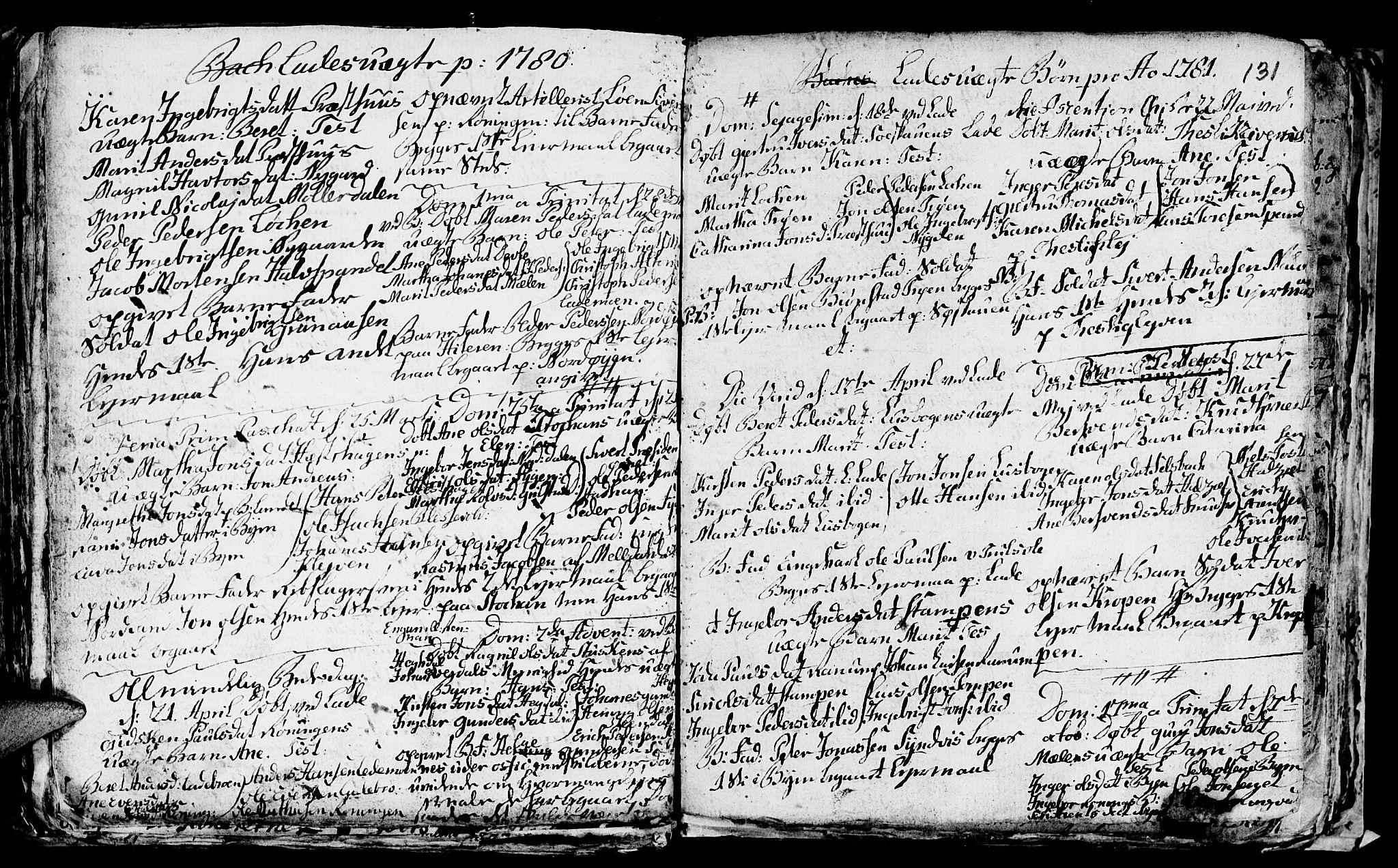 SAT, Ministerialprotokoller, klokkerbøker og fødselsregistre - Sør-Trøndelag, 606/L0305: Klokkerbok nr. 606C01, 1757-1819, s. 131