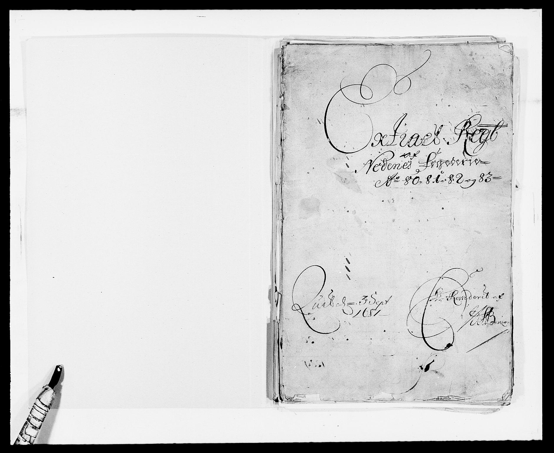 RA, Rentekammeret inntil 1814, Reviderte regnskaper, Fogderegnskap, R39/L2306: Fogderegnskap Nedenes, 1680-1683, s. 2