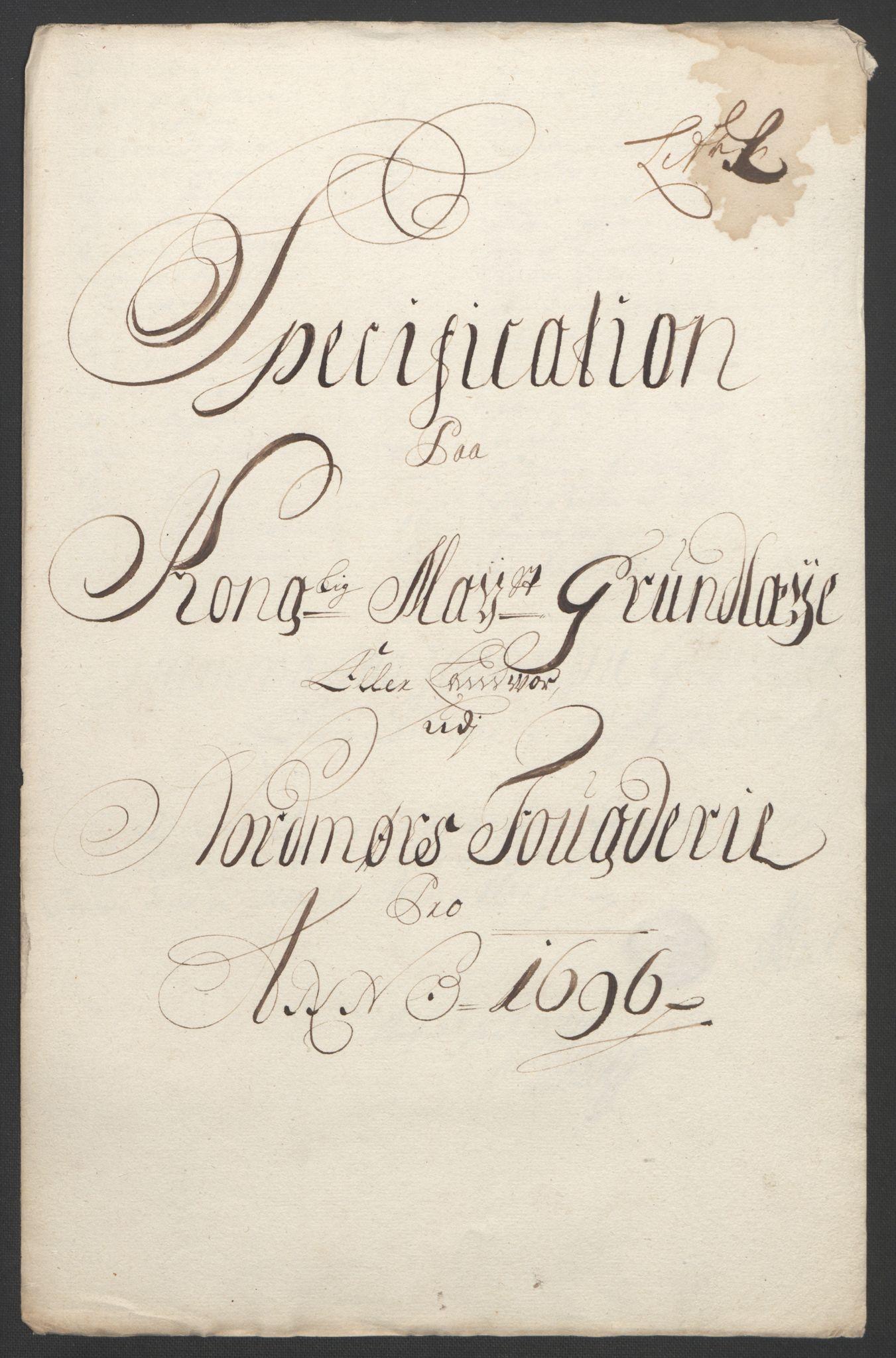 RA, Rentekammeret inntil 1814, Reviderte regnskaper, Fogderegnskap, R56/L3736: Fogderegnskap Nordmøre, 1694-1696, s. 435