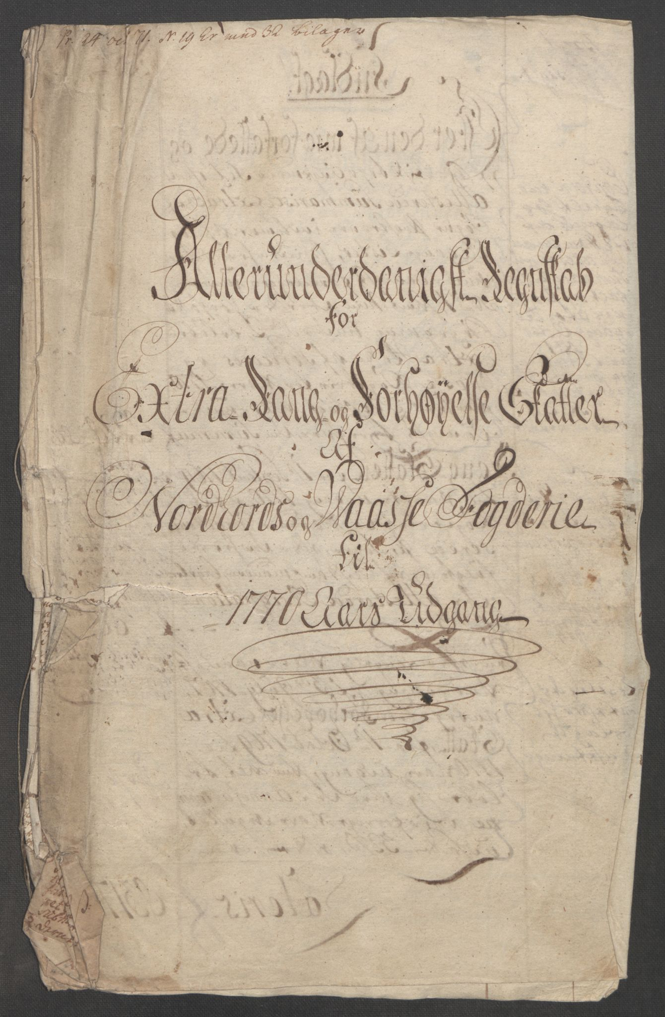 RA, Rentekammeret inntil 1814, Reviderte regnskaper, Fogderegnskap, R51/L3303: Ekstraskatten Nordhordland og Voss, 1762-1772, s. 385