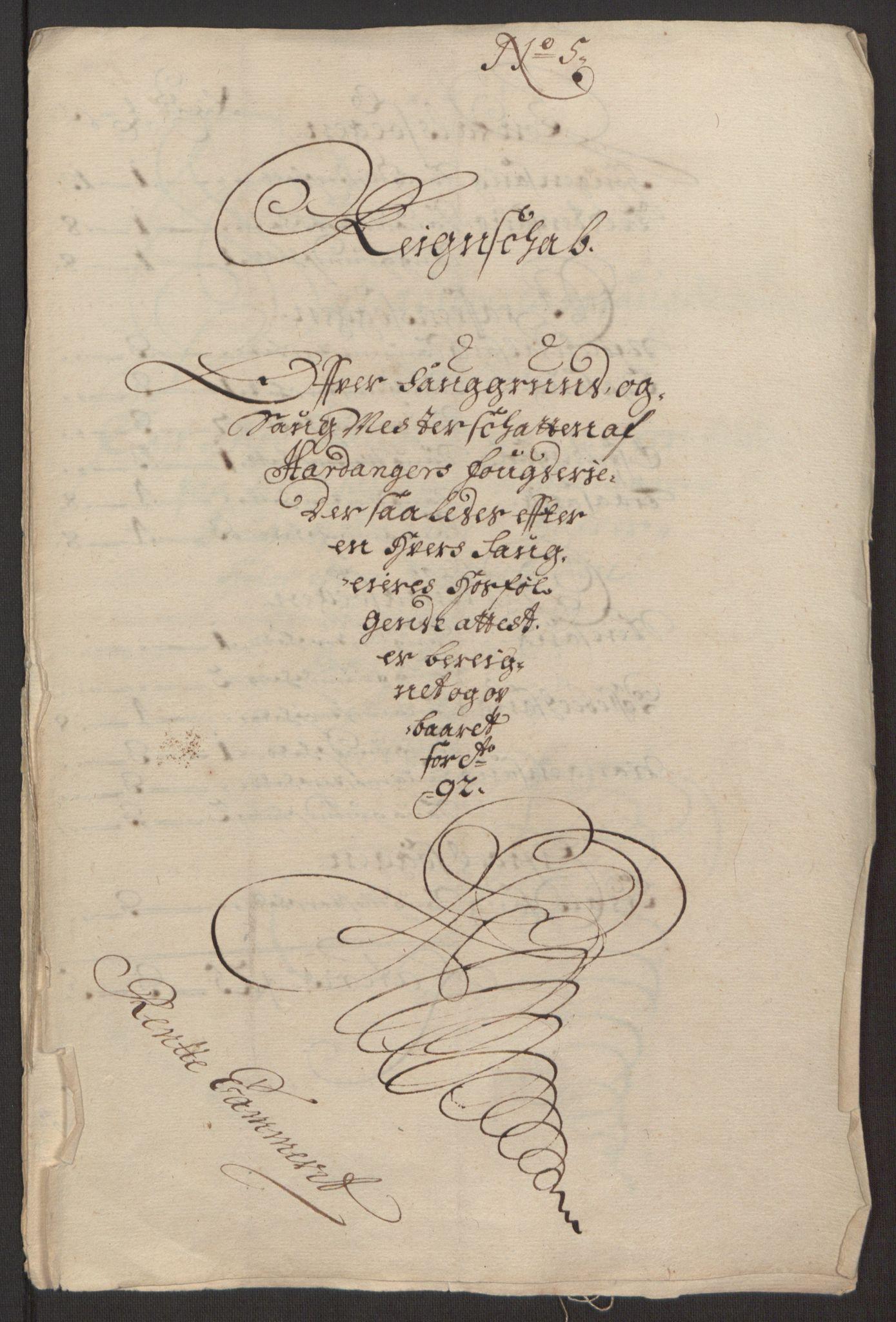 RA, Rentekammeret inntil 1814, Reviderte regnskaper, Fogderegnskap, R48/L2973: Fogderegnskap Sunnhordland og Hardanger, 1691-1692, s. 625