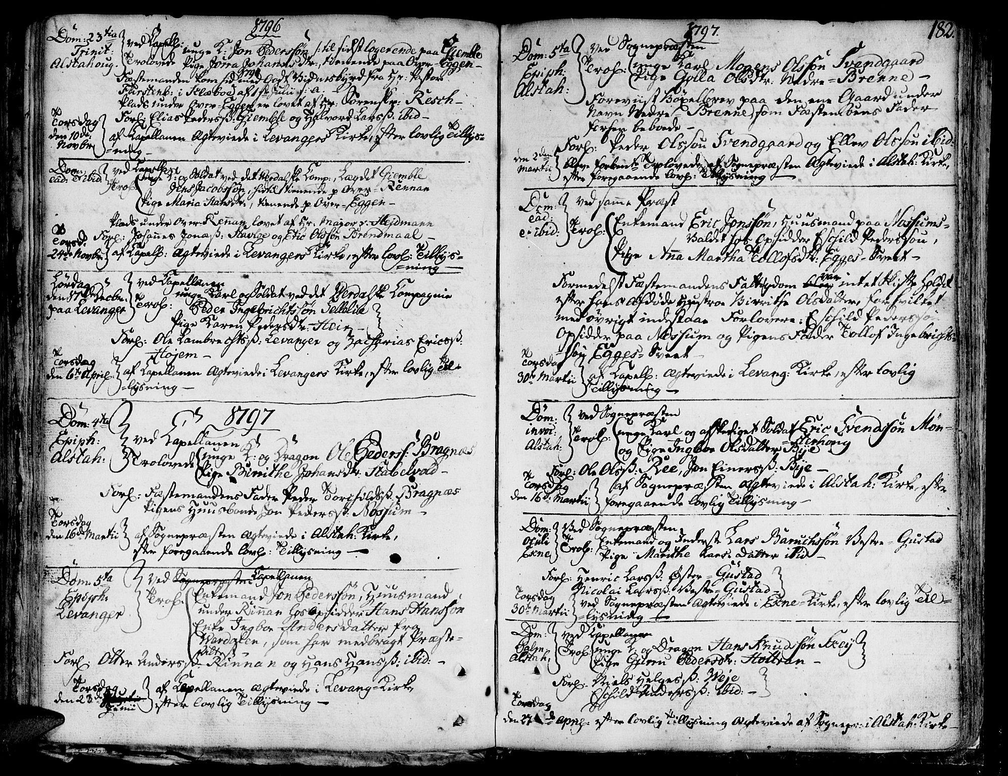 SAT, Ministerialprotokoller, klokkerbøker og fødselsregistre - Nord-Trøndelag, 717/L0142: Ministerialbok nr. 717A02 /1, 1783-1809, s. 182