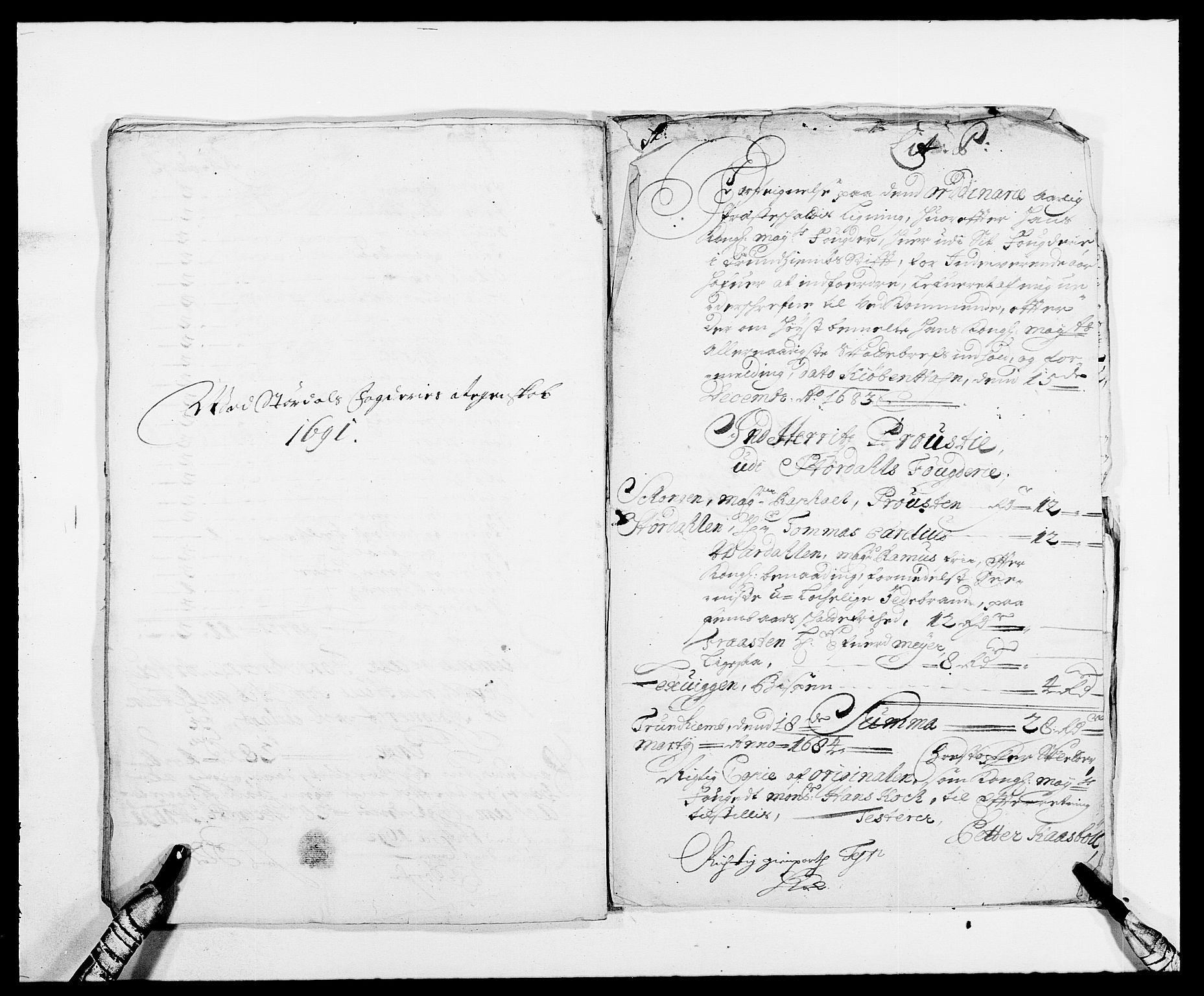 RA, Rentekammeret inntil 1814, Reviderte regnskaper, Fogderegnskap, R62/L4184: Fogderegnskap Stjørdal og Verdal, 1690-1691, s. 424