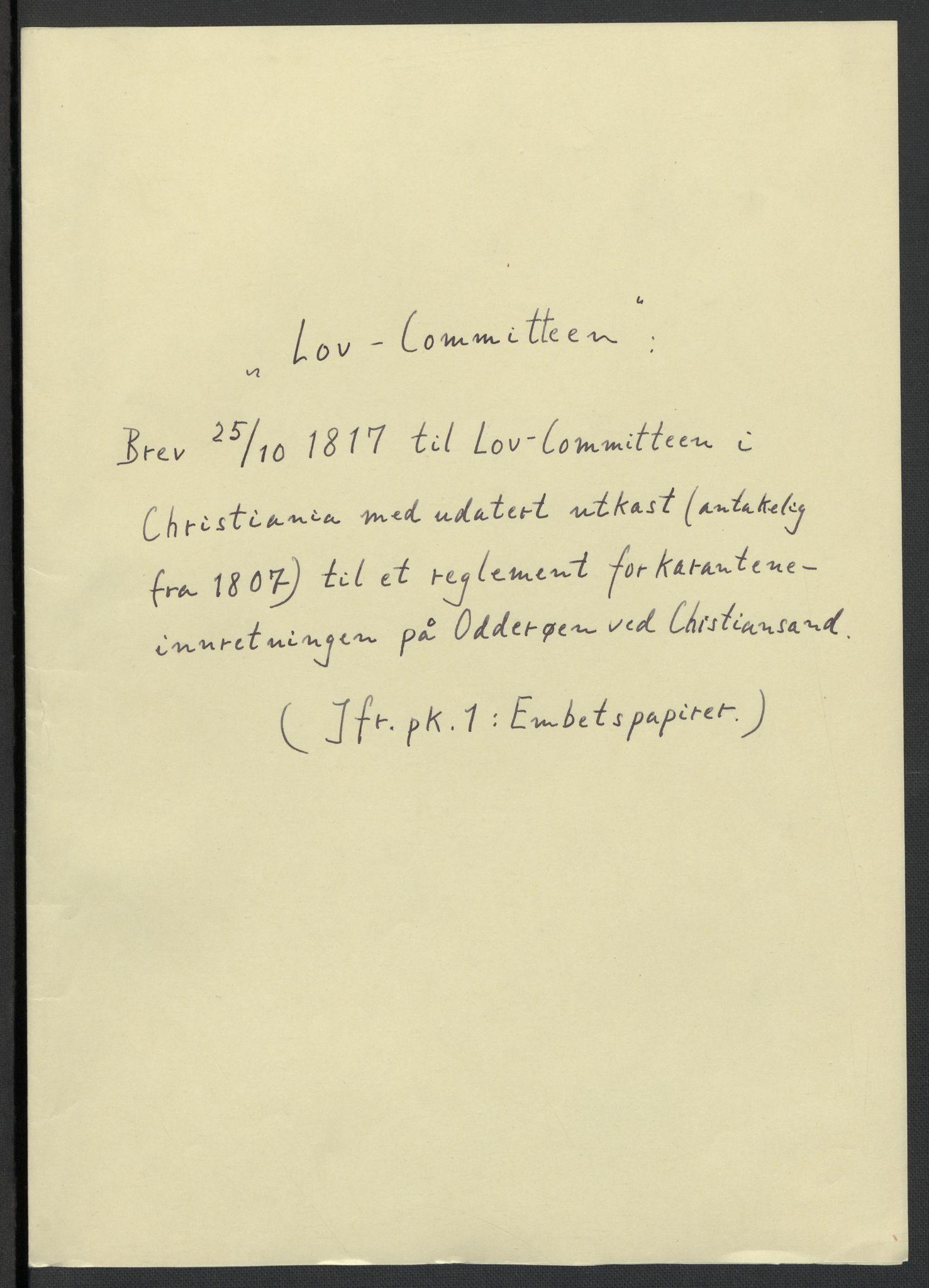 RA, Christie, Wilhelm Frimann Koren, F/L0006, 1817-1818, s. 3