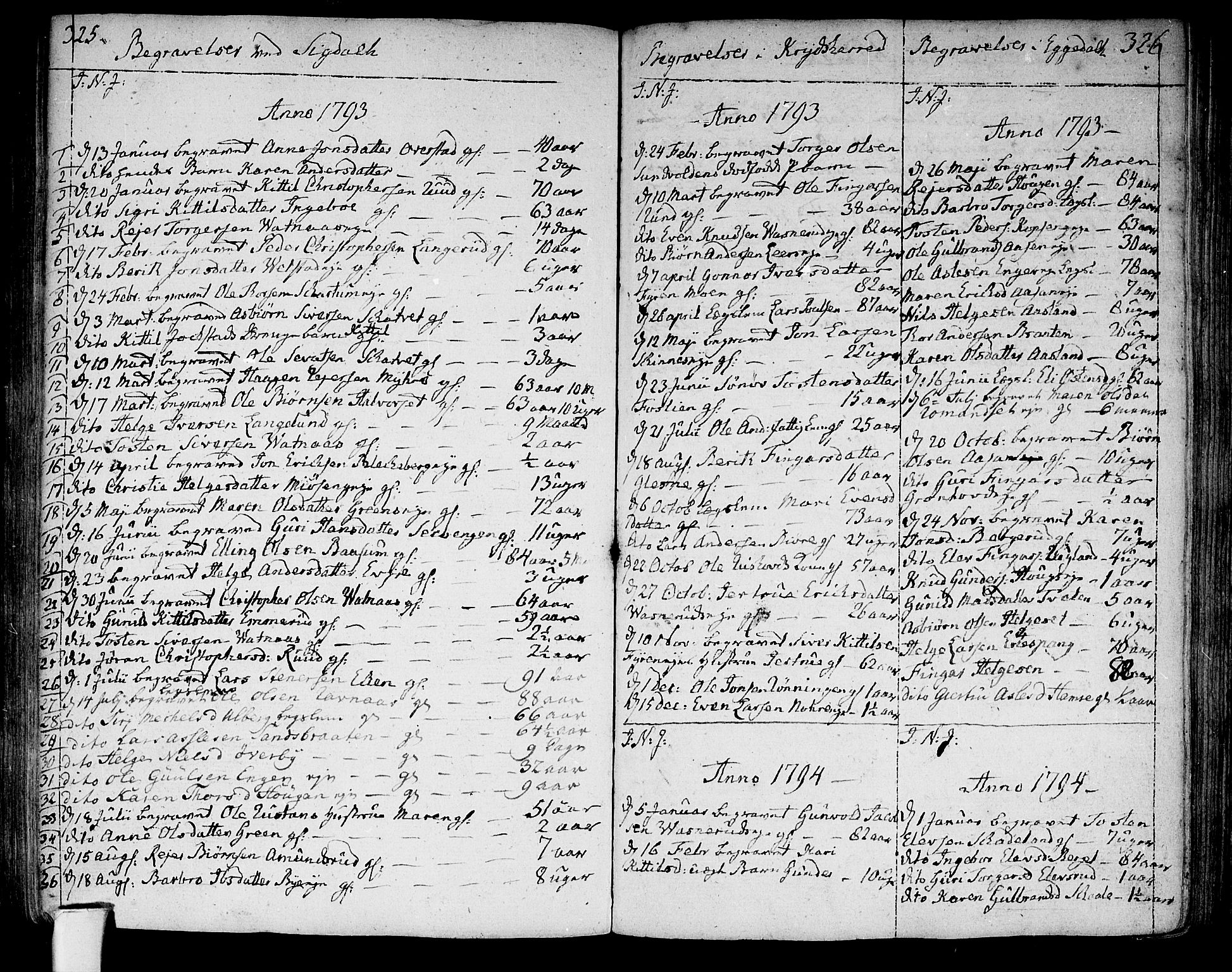 SAKO, Sigdal kirkebøker, F/Fa/L0003: Ministerialbok nr. I 3, 1793-1811, s. 325-326