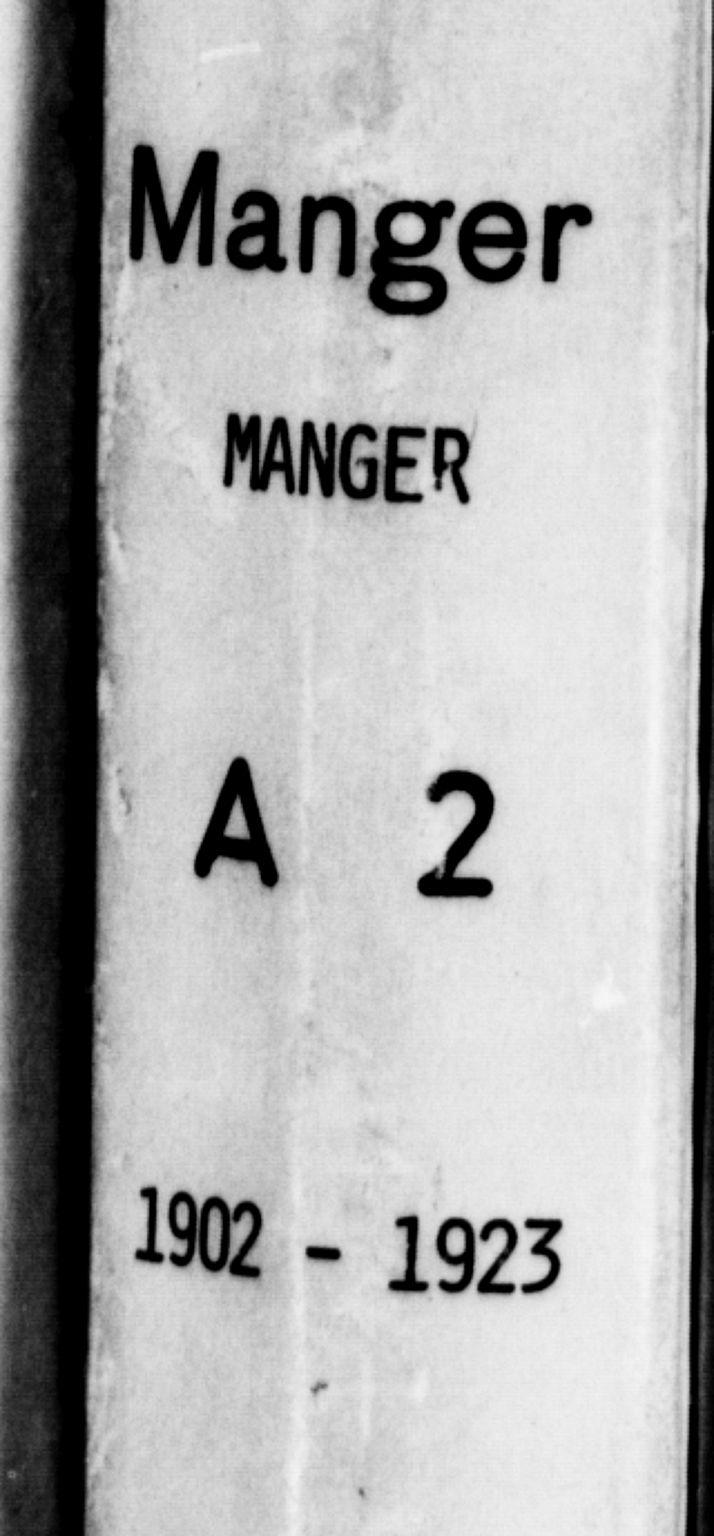 SAB, Manger sokneprestembete, H/Hab: Klokkerbok nr. A 2, 1902-1923