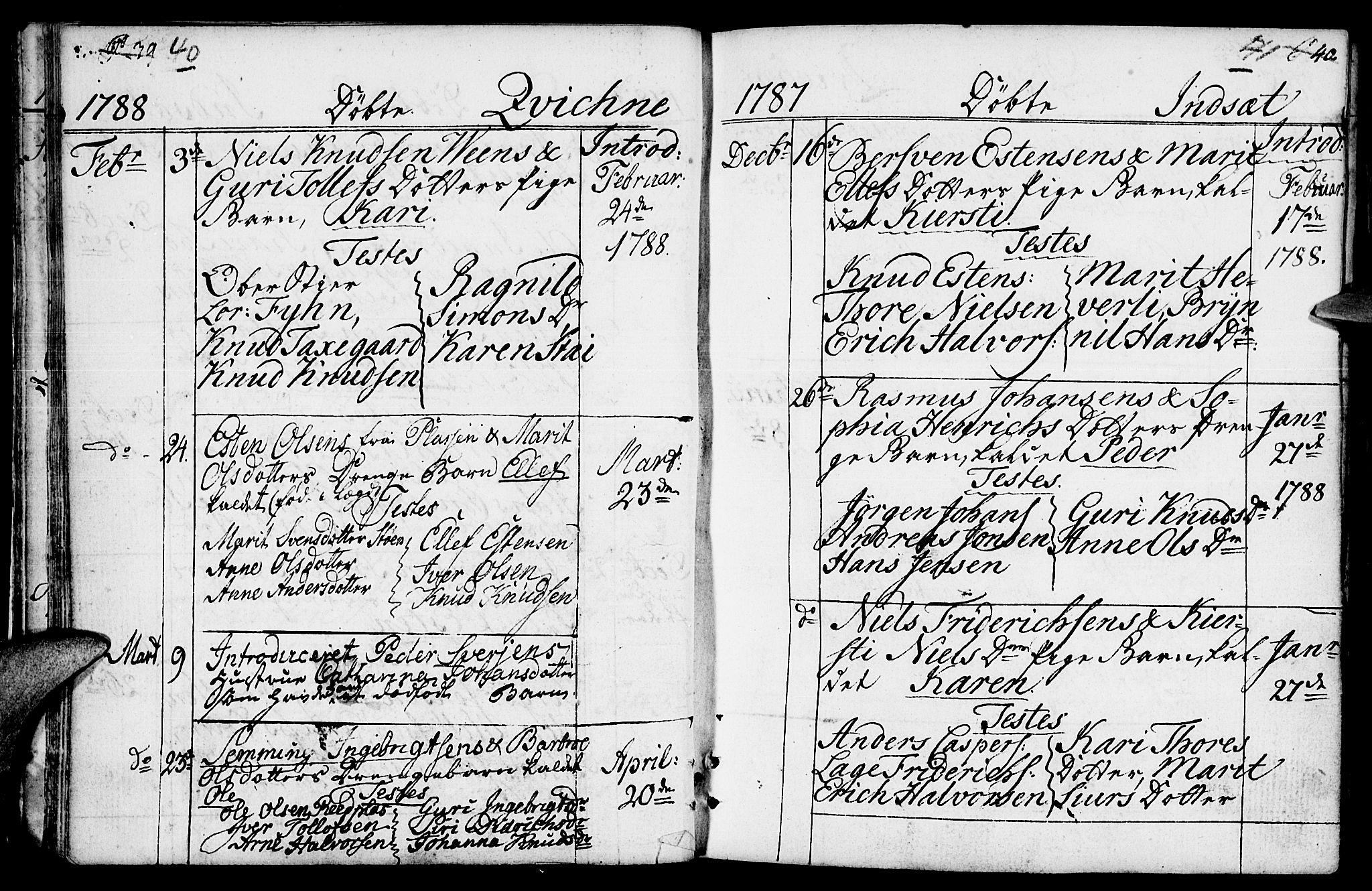 SAH, Kvikne prestekontor, Ministerialbok nr. 3, 1785-1814, s. 40-41