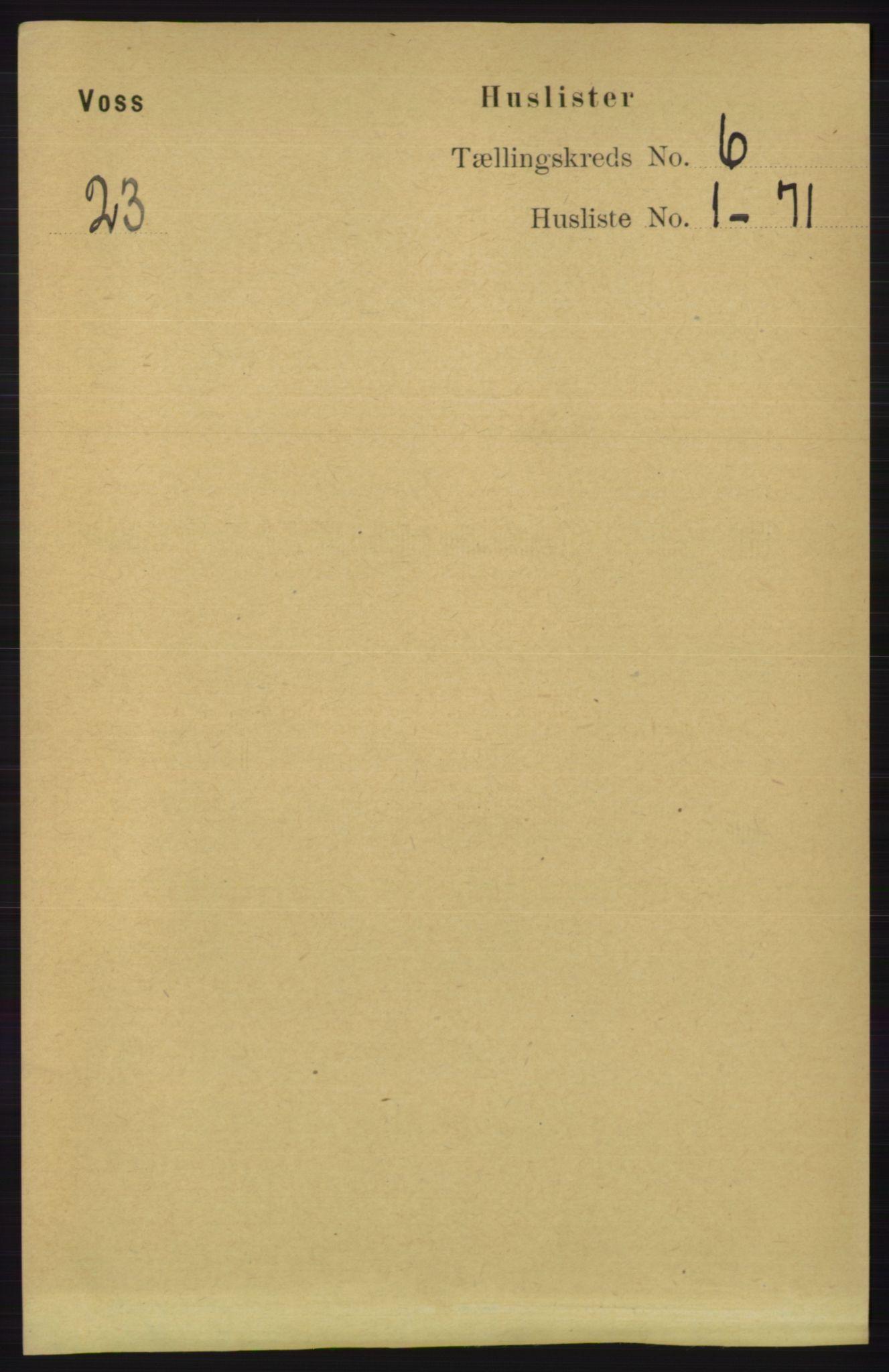 RA, Folketelling 1891 for 1235 Voss herred, 1891, s. 3216