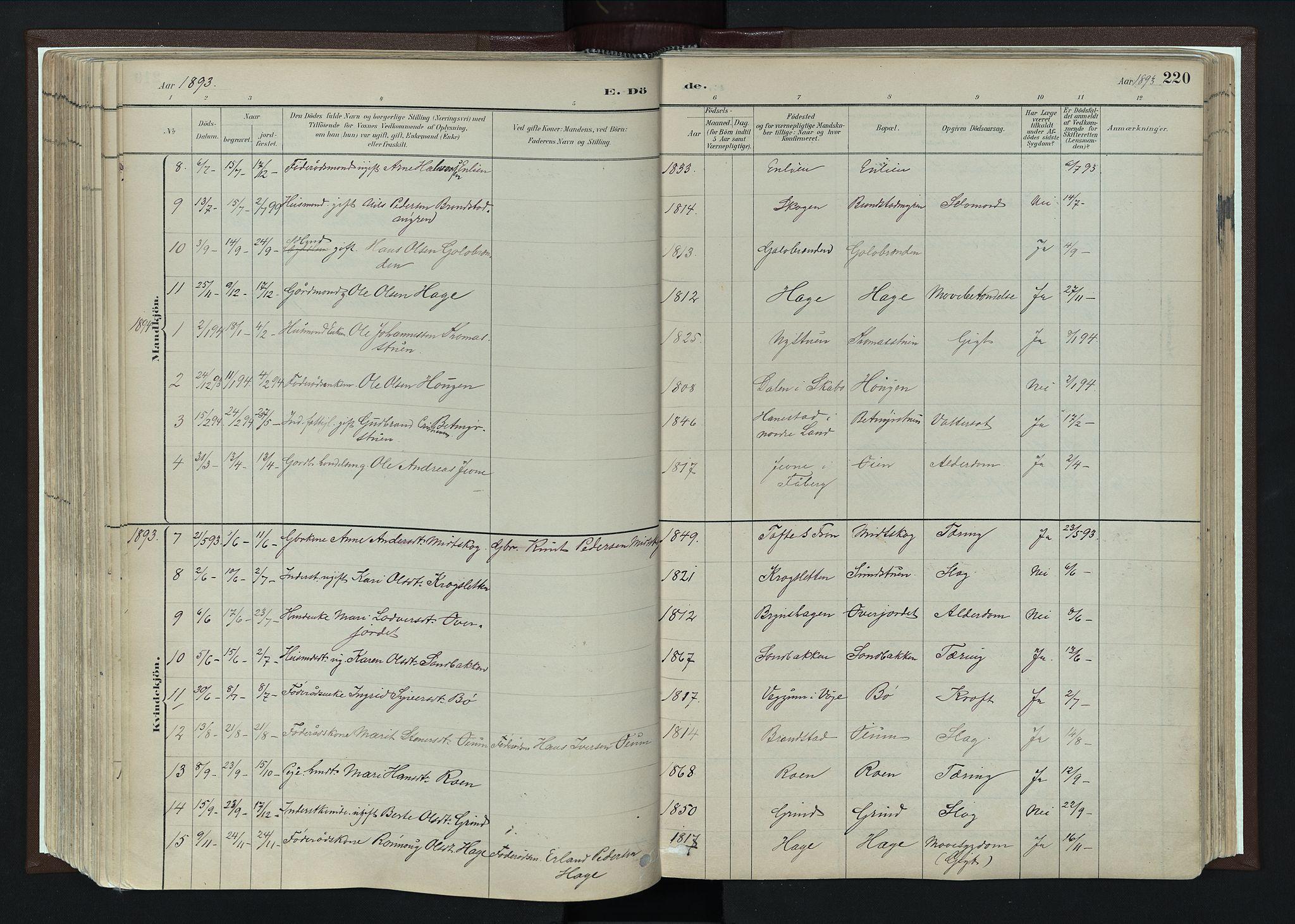 SAH, Nord-Fron prestekontor, Ministerialbok nr. 4, 1884-1914, s. 220