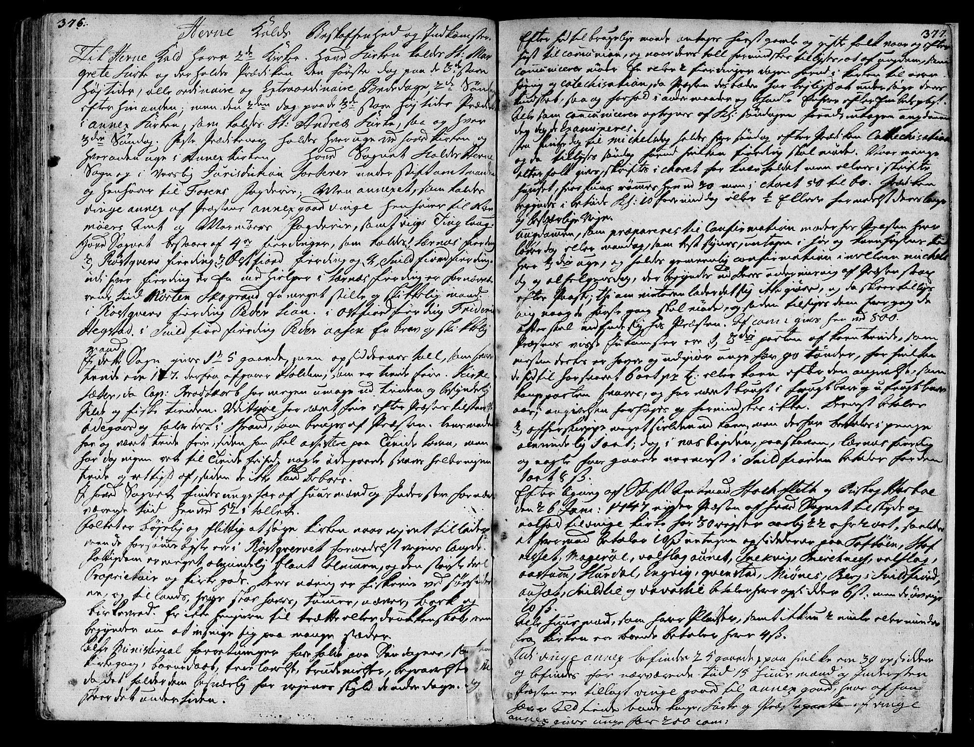SAT, Ministerialprotokoller, klokkerbøker og fødselsregistre - Sør-Trøndelag, 630/L0489: Ministerialbok nr. 630A02, 1757-1794, s. 376-377