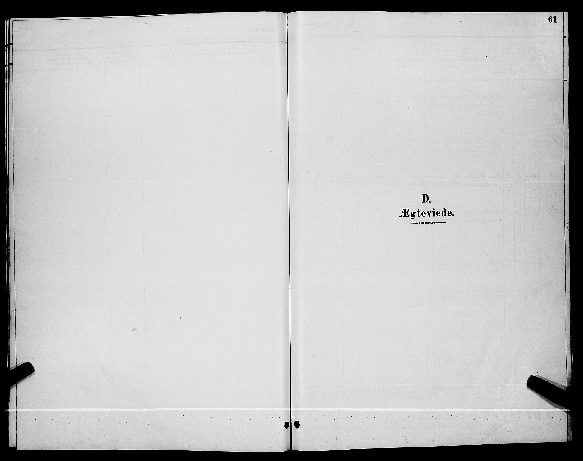 SAKO, Lunde kirkebøker, G/Gb/L0002: Klokkerbok nr. II 2, 1888-1895, s. 61