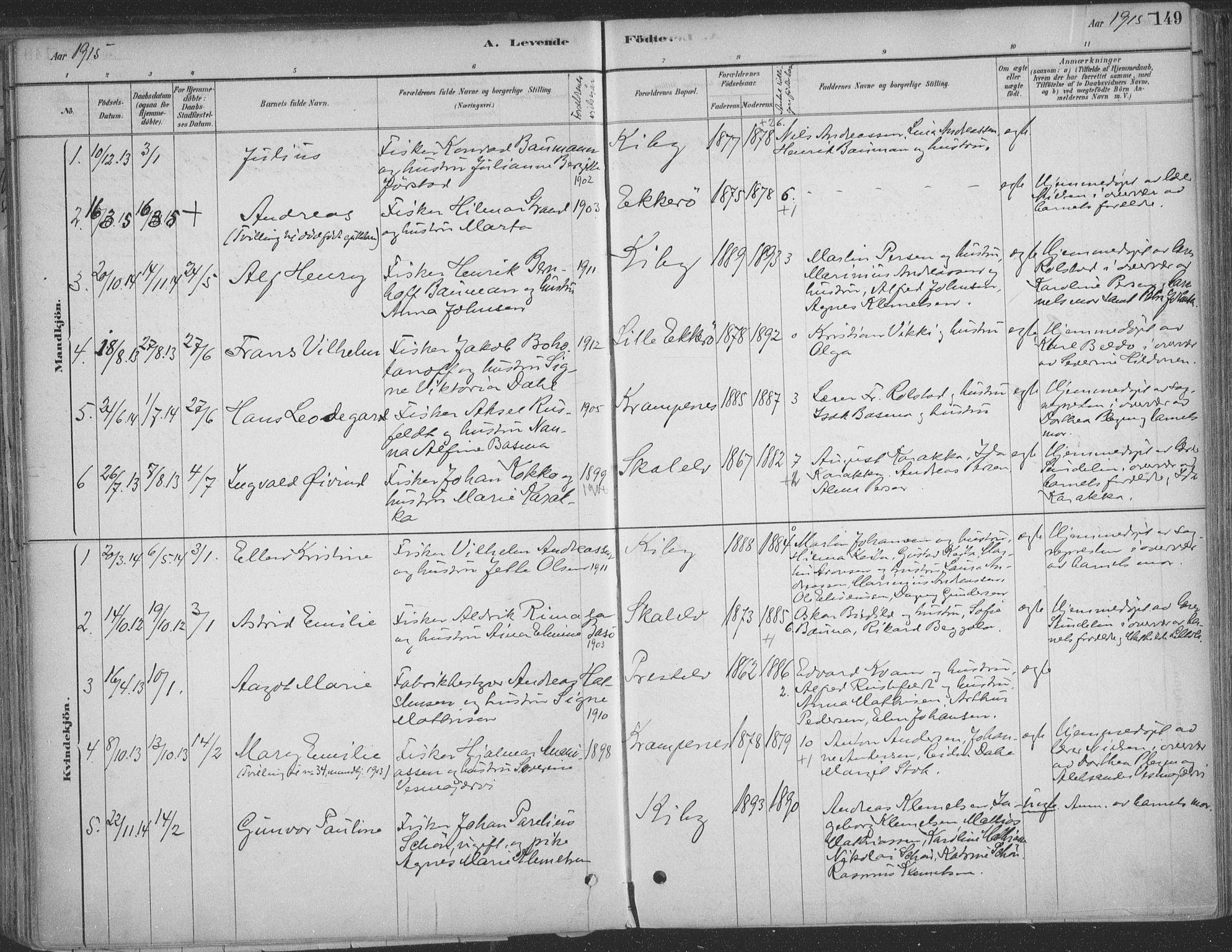SATØ, Vadsø sokneprestkontor, H/Ha/L0009kirke: Ministerialbok nr. 9, 1881-1917, s. 149