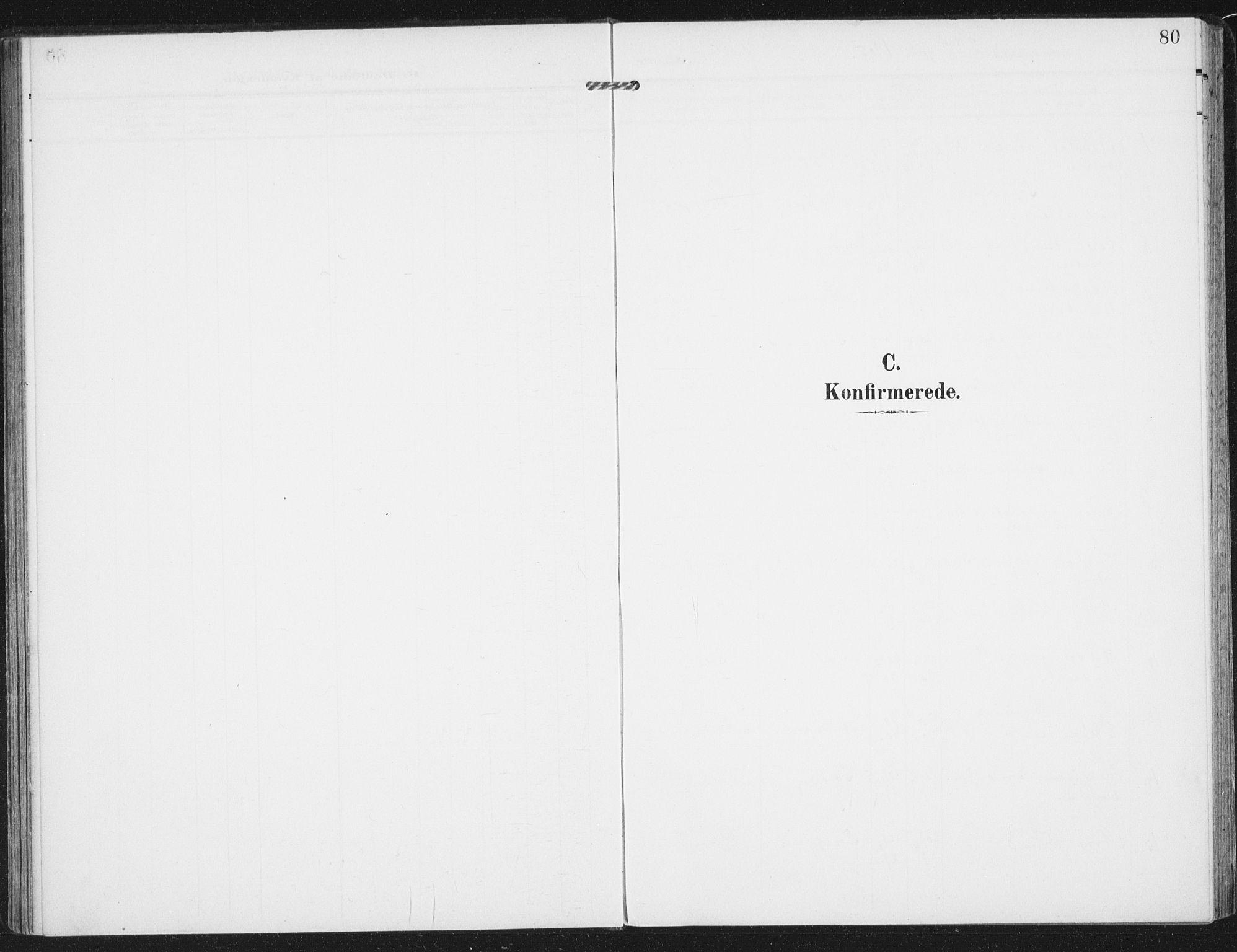 SAT, Ministerialprotokoller, klokkerbøker og fødselsregistre - Nordland, 885/L1206: Ministerialbok nr. 885A07, 1905-1915, s. 80
