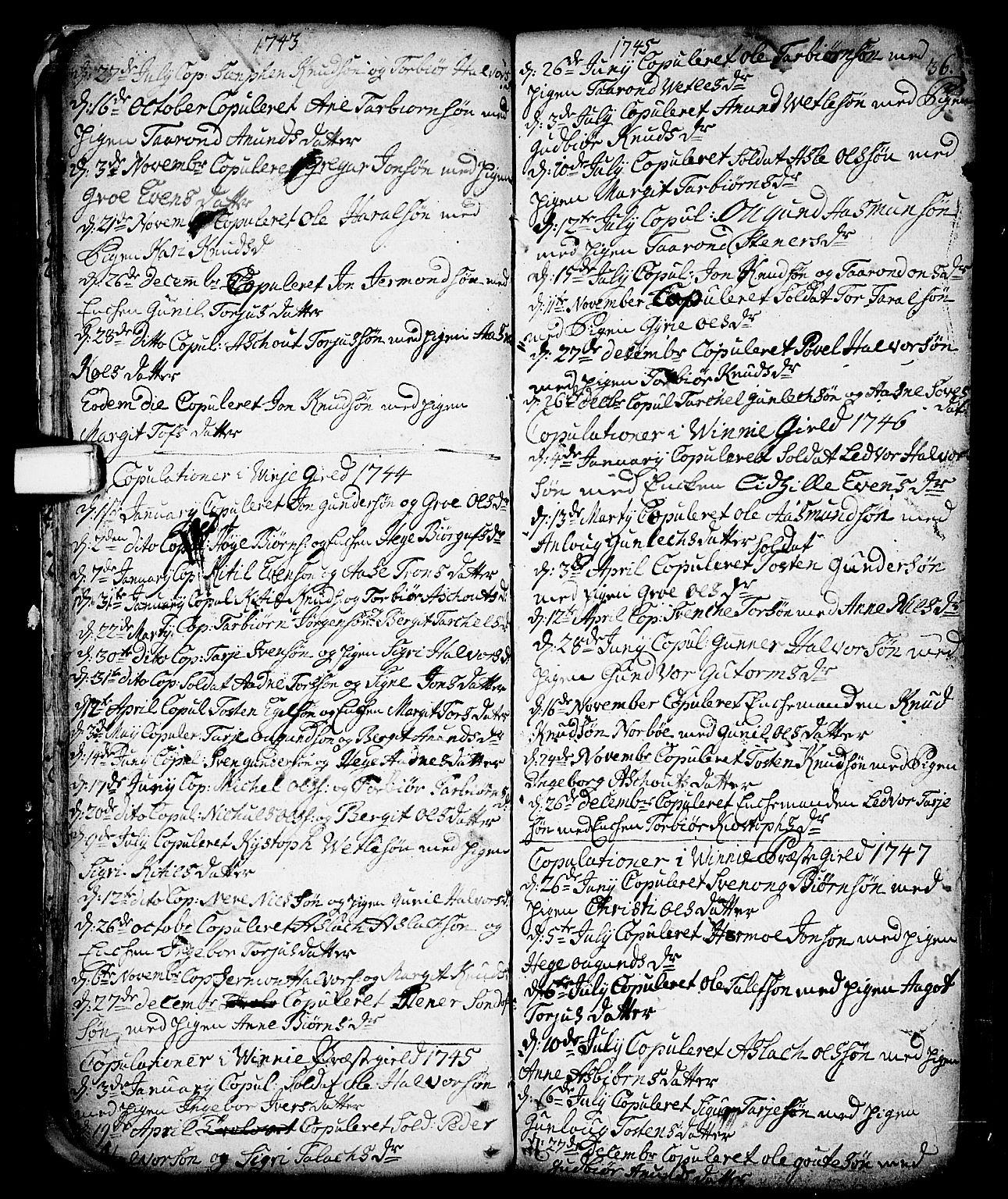 SAKO, Vinje kirkebøker, F/Fa/L0001: Ministerialbok nr. I 1, 1717-1766, s. 36