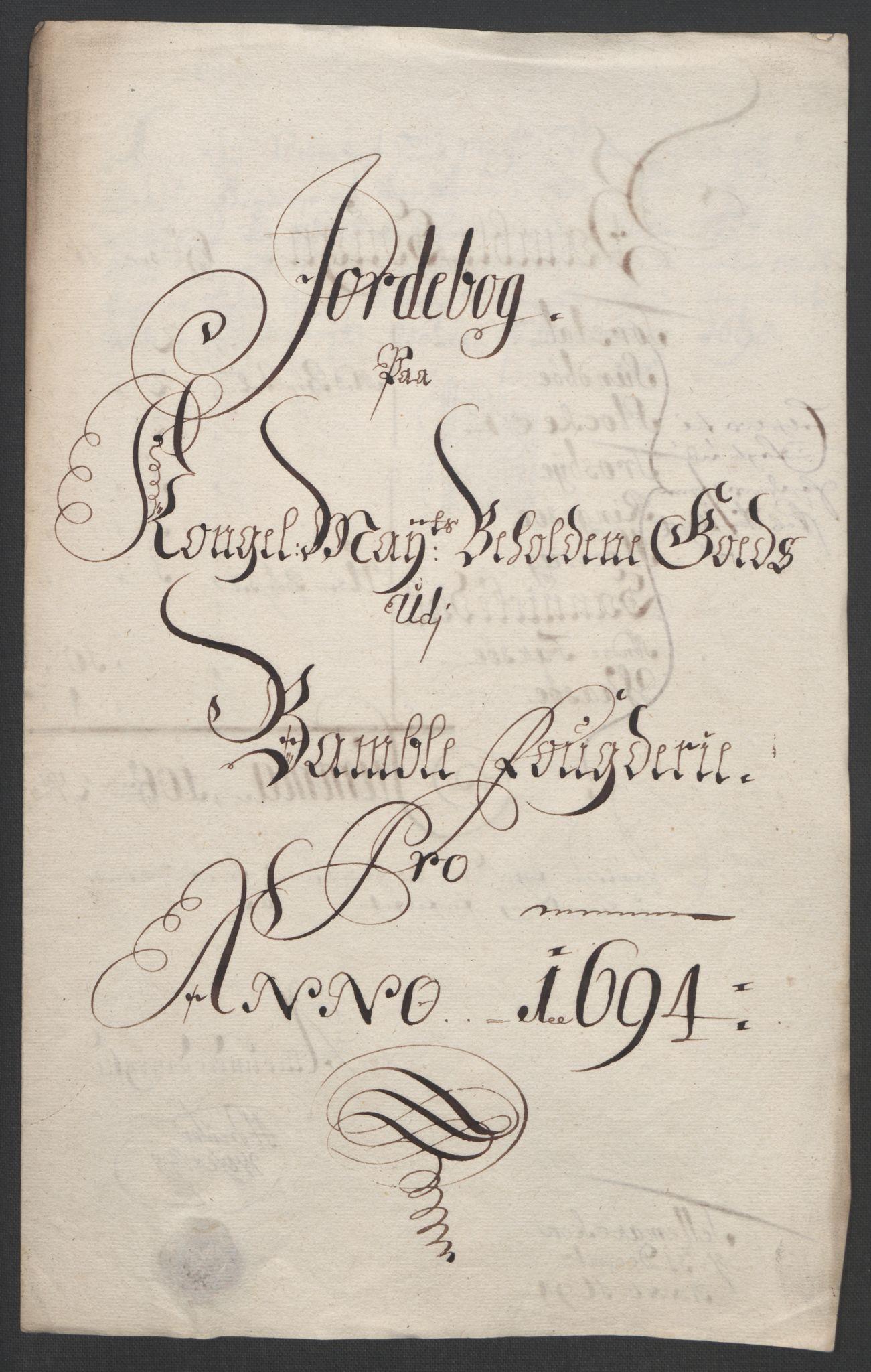 RA, Rentekammeret inntil 1814, Reviderte regnskaper, Fogderegnskap, R36/L2092: Fogderegnskap Øvre og Nedre Telemark og Bamble, 1694, s. 171