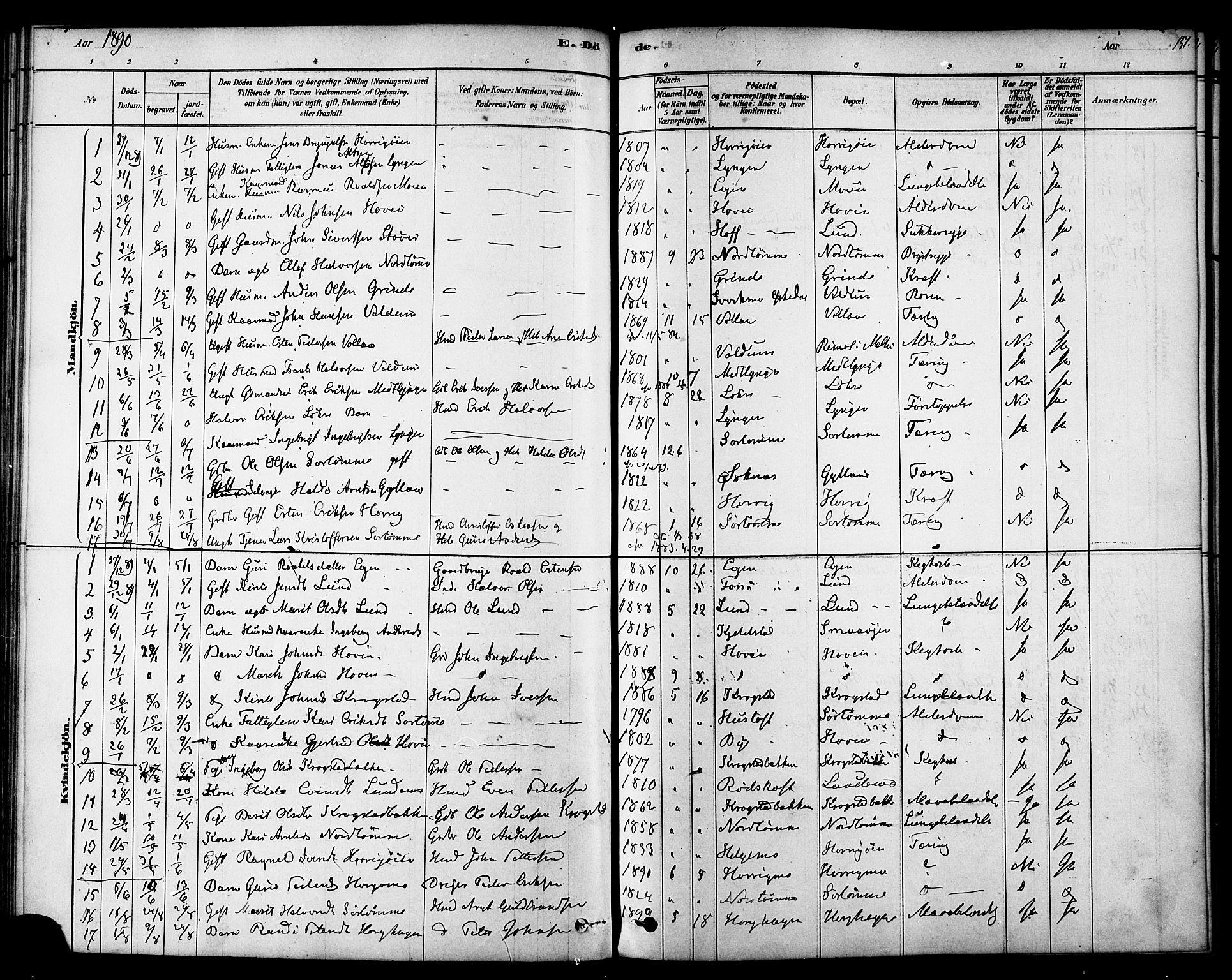 SAT, Ministerialprotokoller, klokkerbøker og fødselsregistre - Sør-Trøndelag, 692/L1105: Ministerialbok nr. 692A05, 1878-1890, s. 151