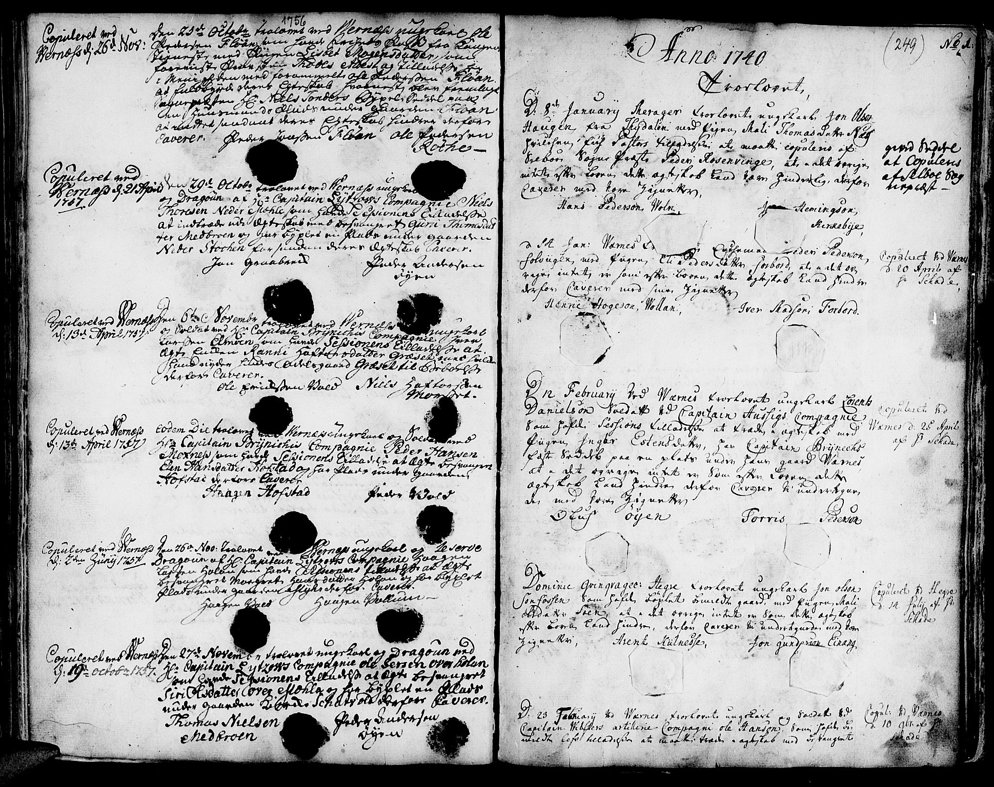 SAT, Ministerialprotokoller, klokkerbøker og fødselsregistre - Nord-Trøndelag, 709/L0056: Ministerialbok nr. 709A04, 1740-1756, s. 249