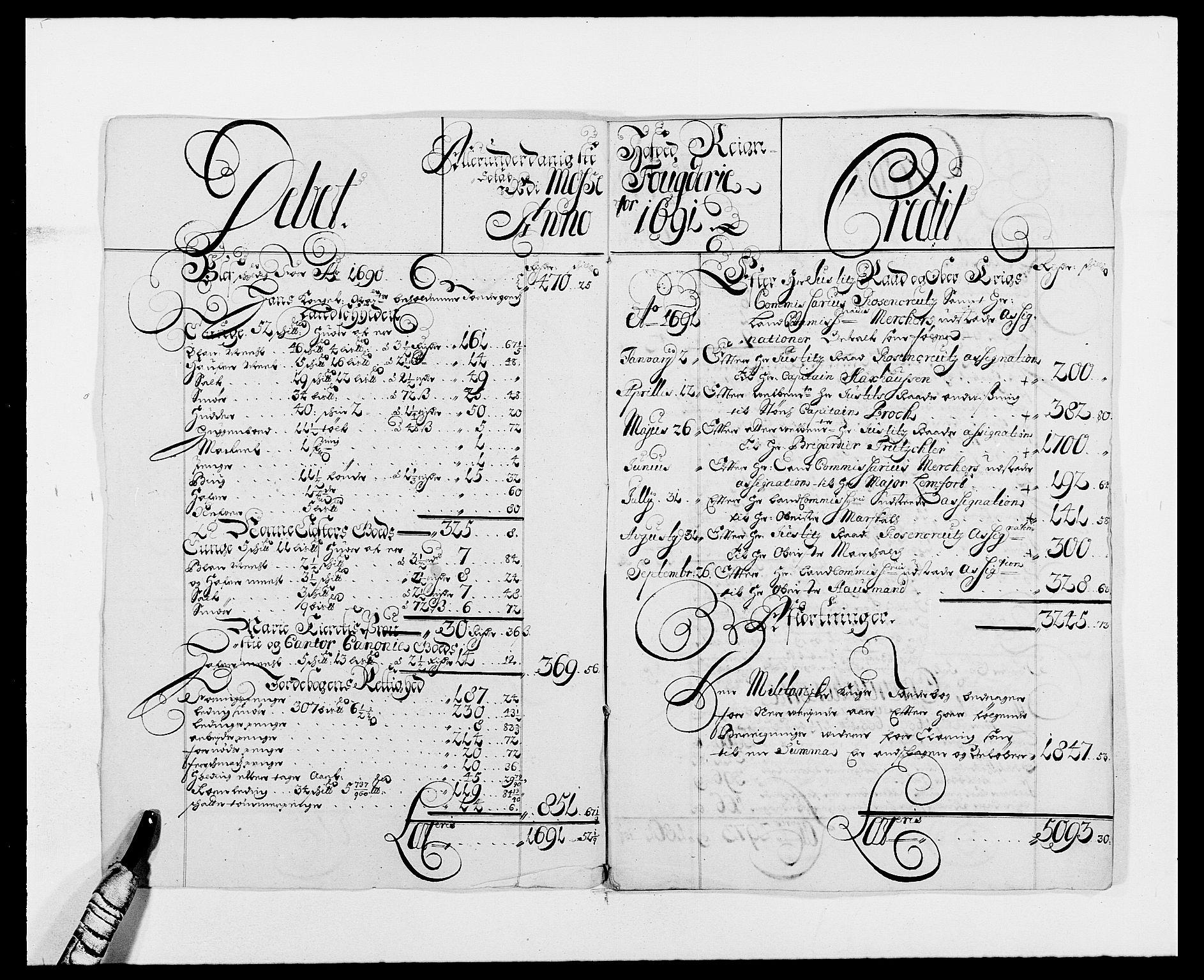 RA, Rentekammeret inntil 1814, Reviderte regnskaper, Fogderegnskap, R02/L0106: Fogderegnskap Moss og Verne kloster, 1688-1691, s. 425