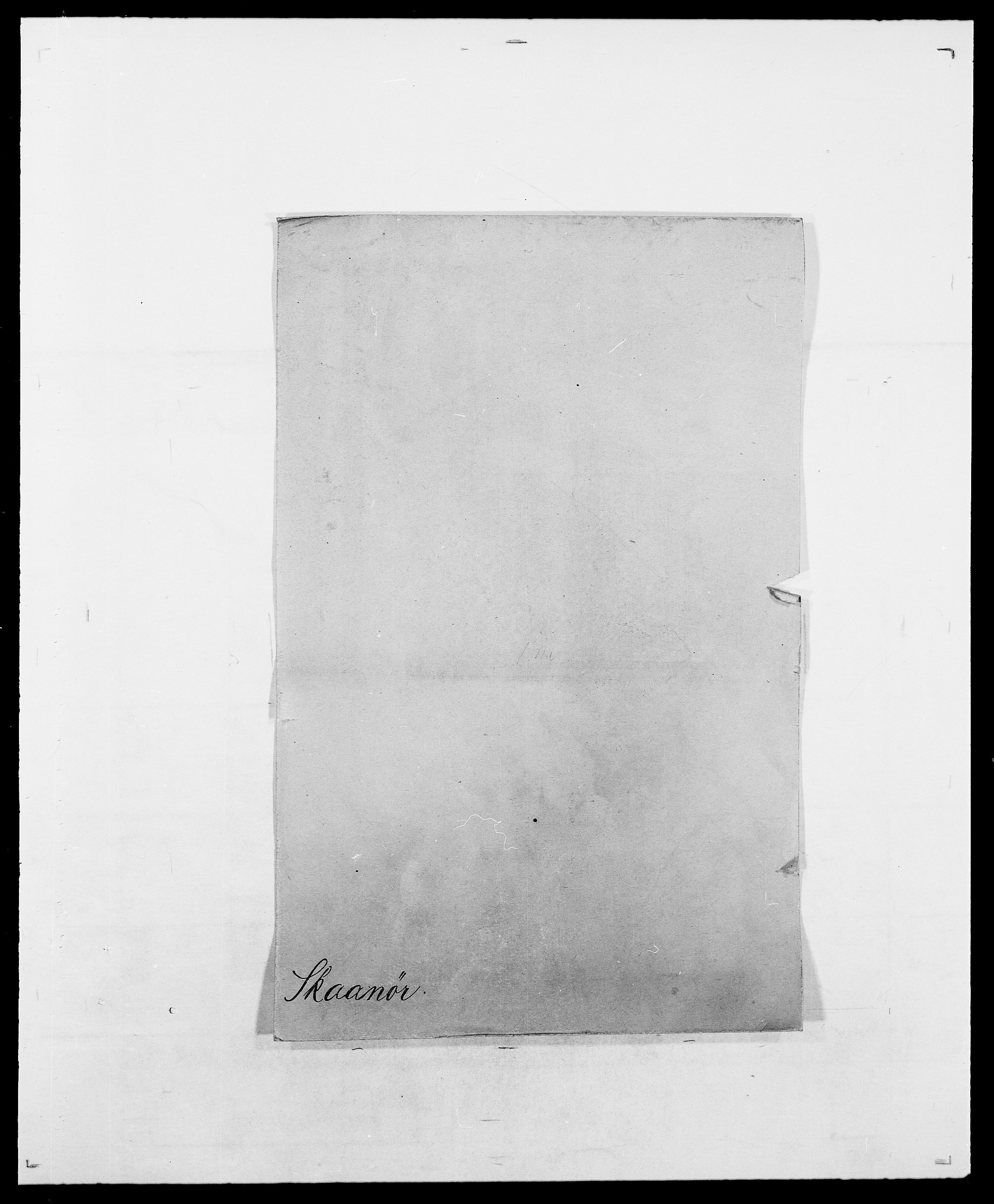 SAO, Delgobe, Charles Antoine - samling, D/Da/L0036: Skaanør - Staverskov, s. 1