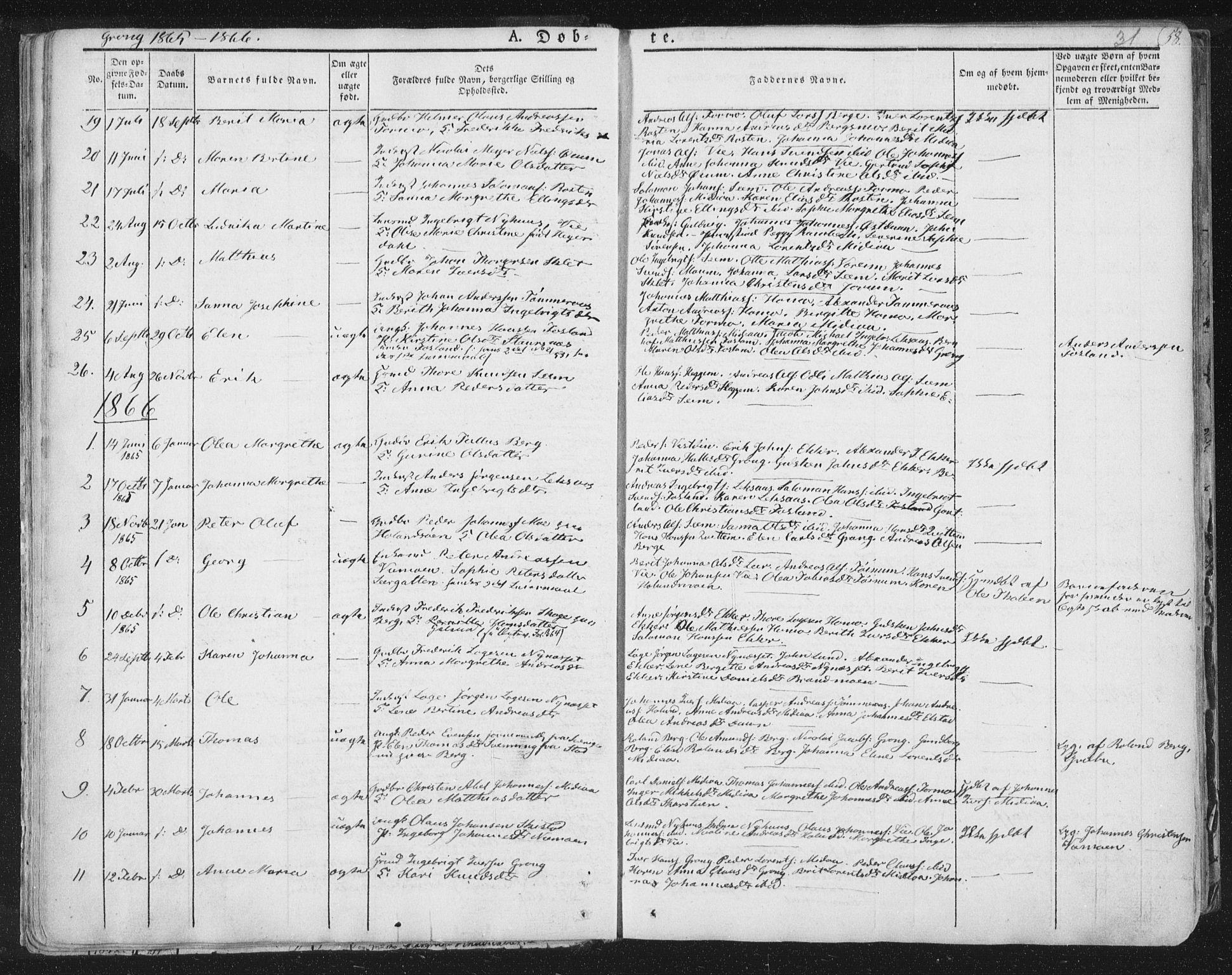 SAT, Ministerialprotokoller, klokkerbøker og fødselsregistre - Nord-Trøndelag, 758/L0513: Ministerialbok nr. 758A02 /1, 1839-1868, s. 31