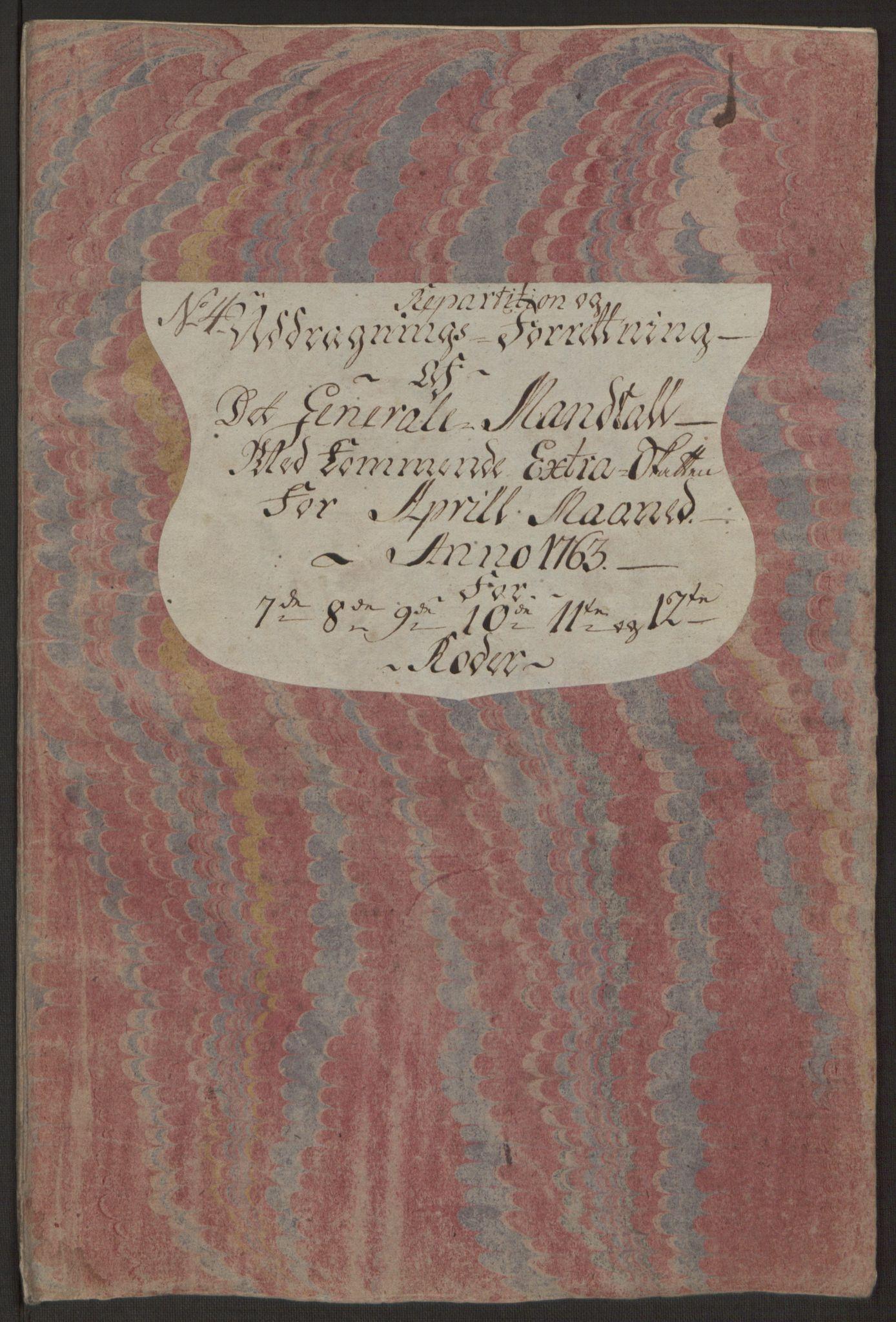 RA, Rentekammeret inntil 1814, Reviderte regnskaper, Byregnskaper, R/Rp/L0366: [P20] Kontribusjonsregnskap, 1763, s. 206