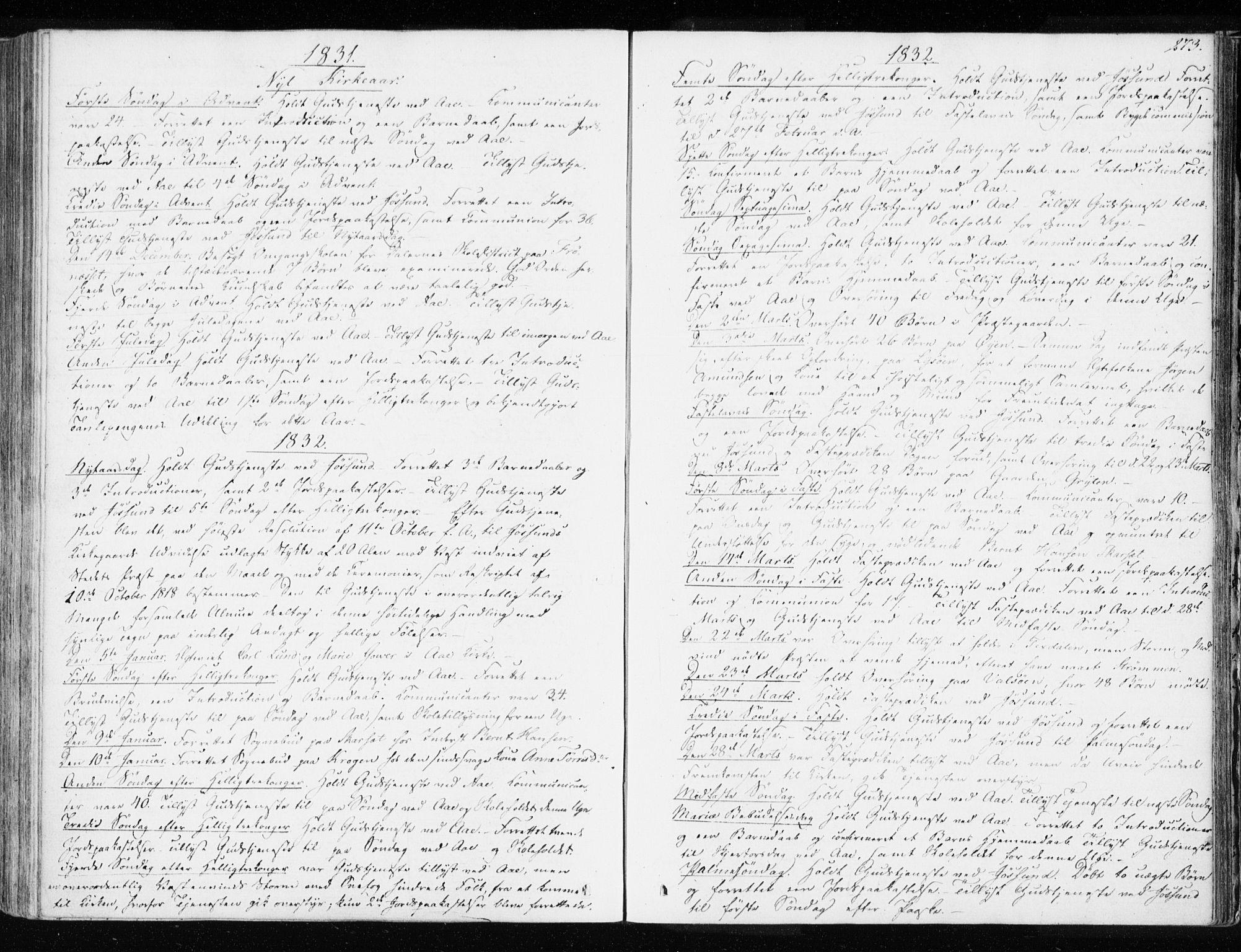 SAT, Ministerialprotokoller, klokkerbøker og fødselsregistre - Sør-Trøndelag, 655/L0676: Ministerialbok nr. 655A05, 1830-1847, s. 273