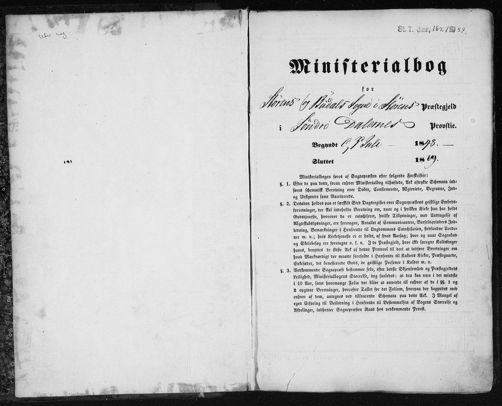 SAT, Ministerialprotokoller, klokkerbøker og fødselsregistre - Sør-Trøndelag, 687/L1000: Ministerialbok nr. 687A06, 1848-1869