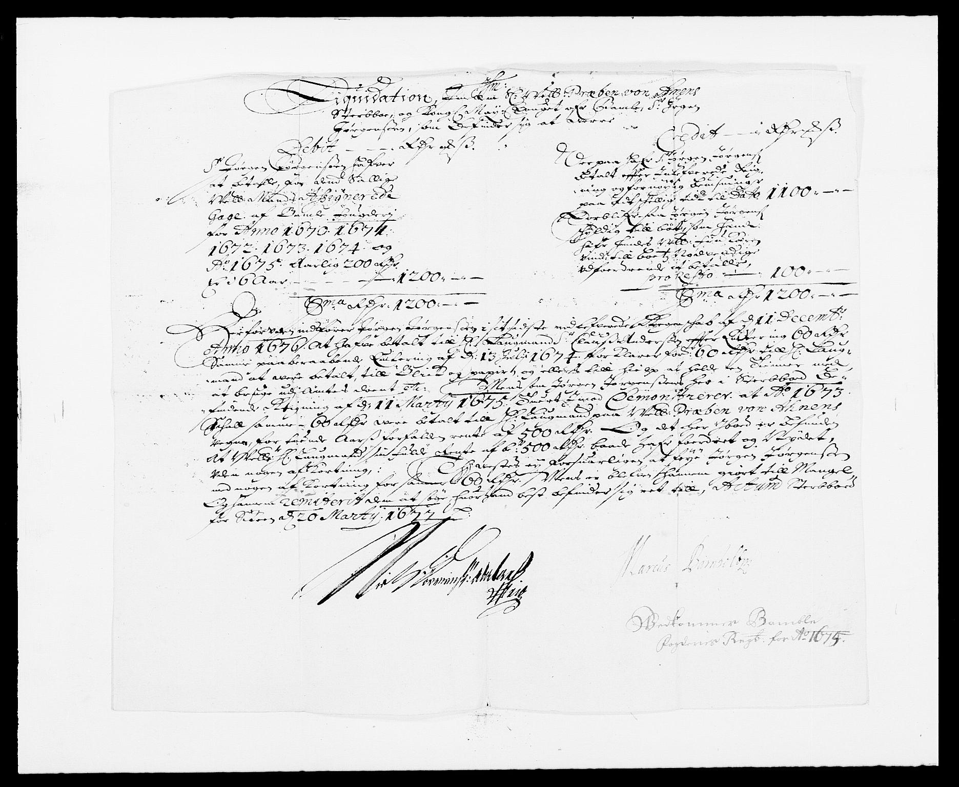 RA, Rentekammeret inntil 1814, Reviderte regnskaper, Fogderegnskap, R34/L2042: Fogderegnskap Bamble, 1673-1675, s. 442