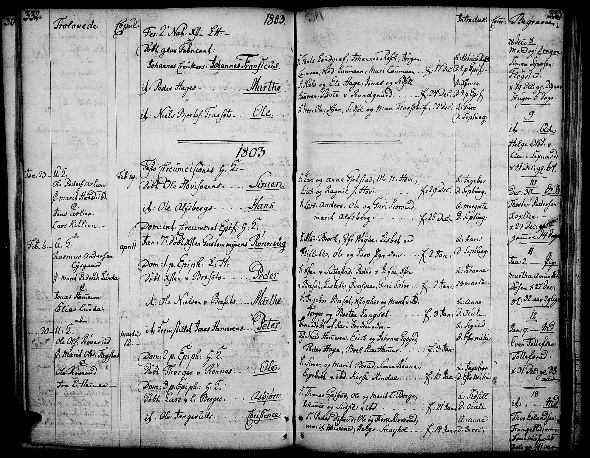 SAH, Fåberg prestekontor, Ministerialbok nr. 2, 1775-1818, s. 332-333