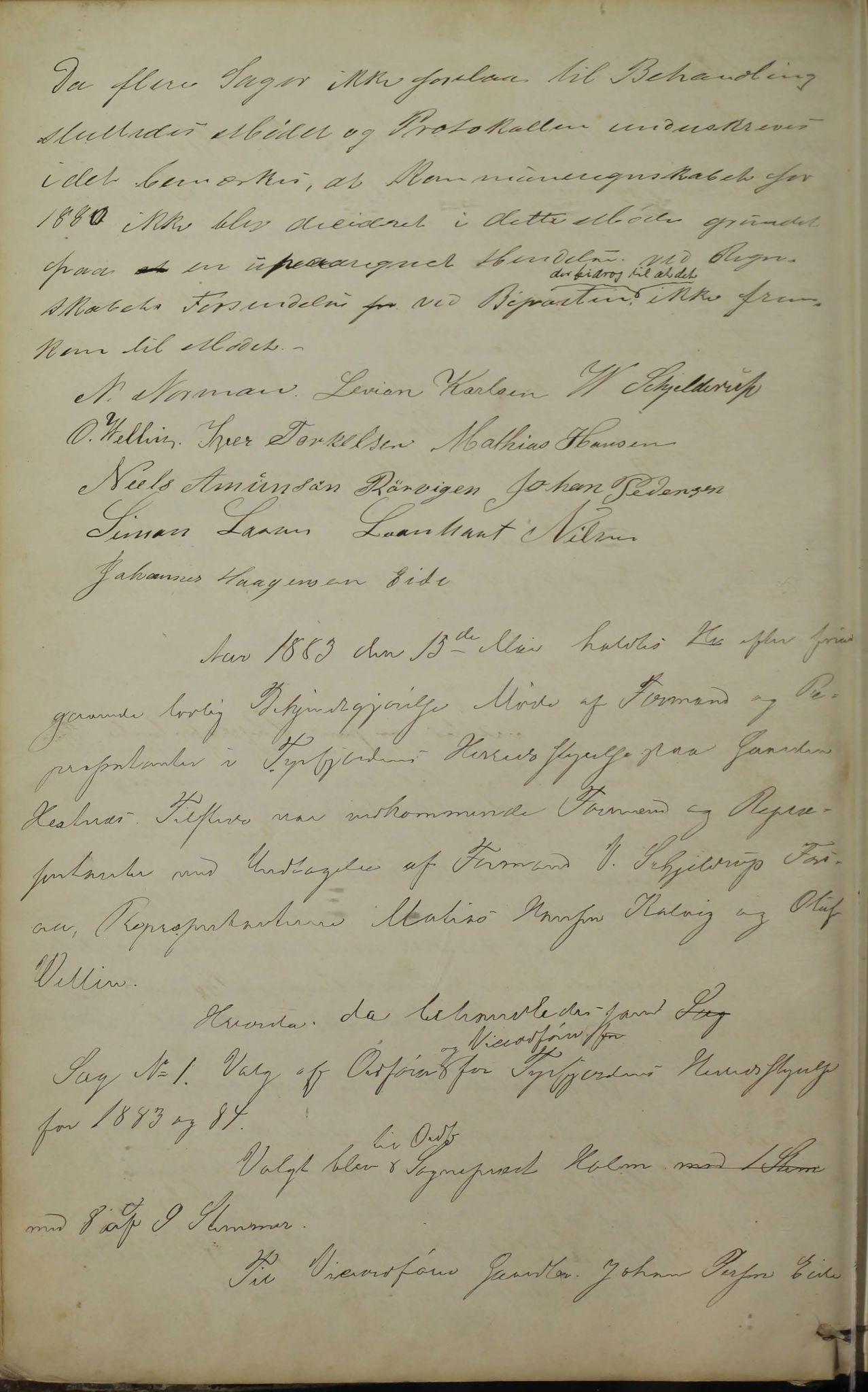 AIN, Tysfjord kommune. Formannskapet, 100/L0001: Forhandlingsprotokoll for Tysfjordens formandskab, 1869-1895, s. 82b