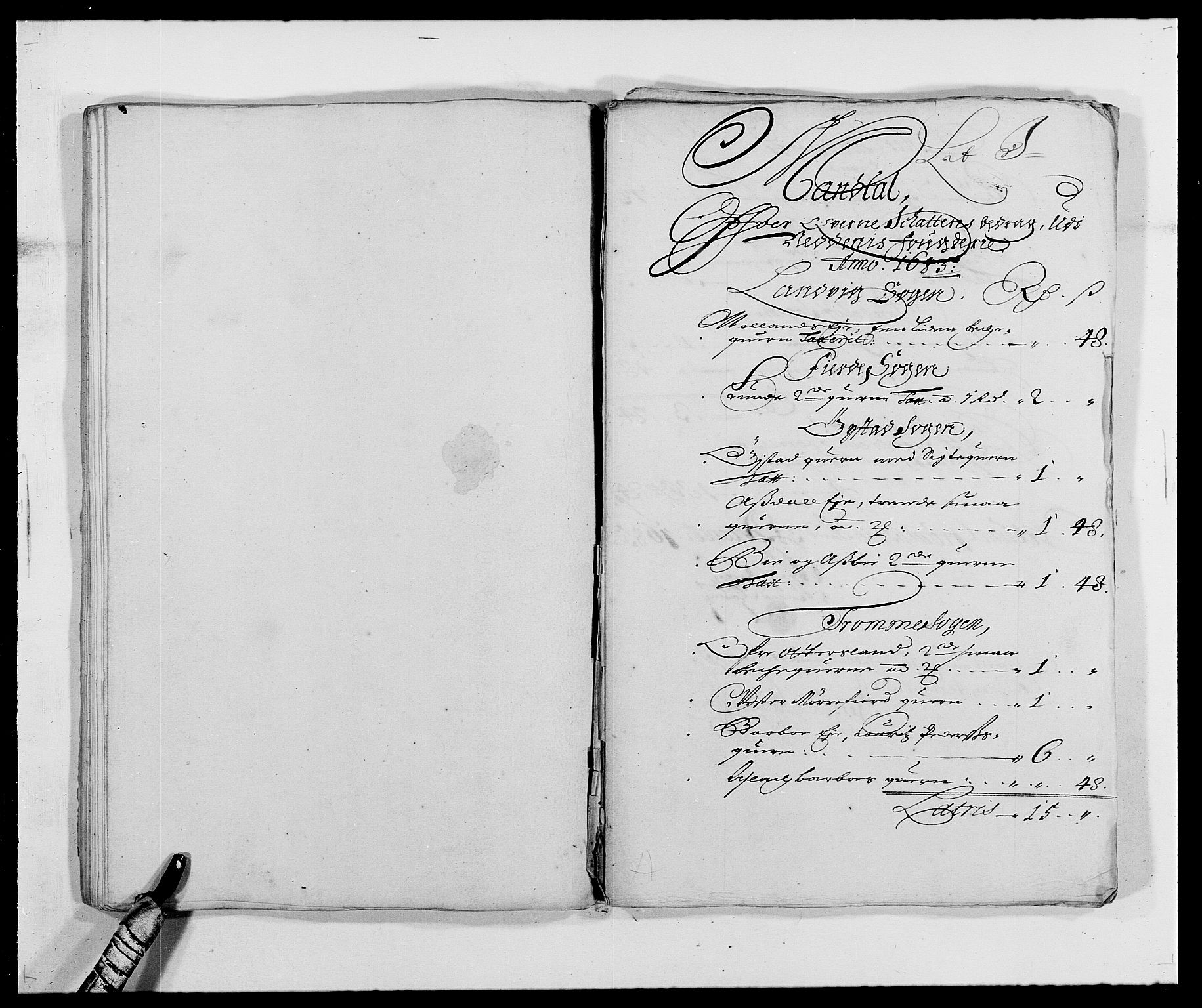 RA, Rentekammeret inntil 1814, Reviderte regnskaper, Fogderegnskap, R39/L2308: Fogderegnskap Nedenes, 1684-1689, s. 281